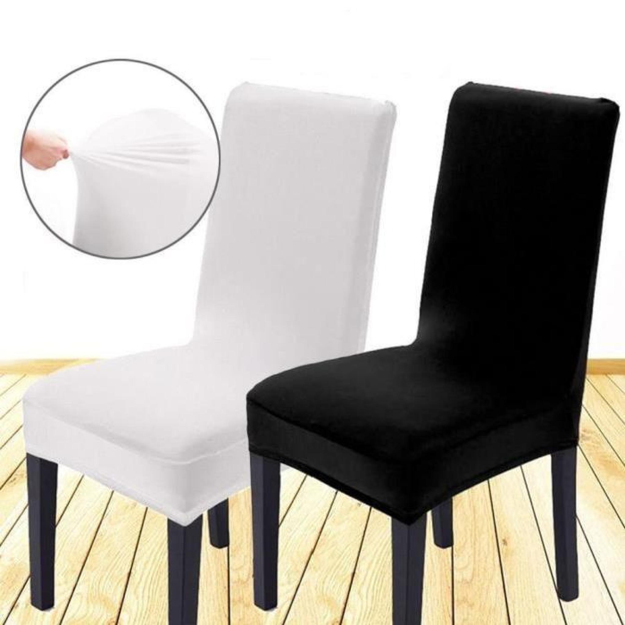 6 x Housse de chaise housse Fauteuil élastique Extensible pour Décor Fête  Mariage Décoration