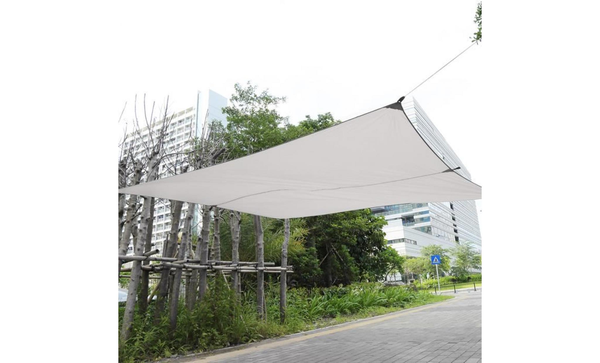 3 4m 4 5 5m soleil voile d 39 ombrage auvent carr e voile d. Black Bedroom Furniture Sets. Home Design Ideas