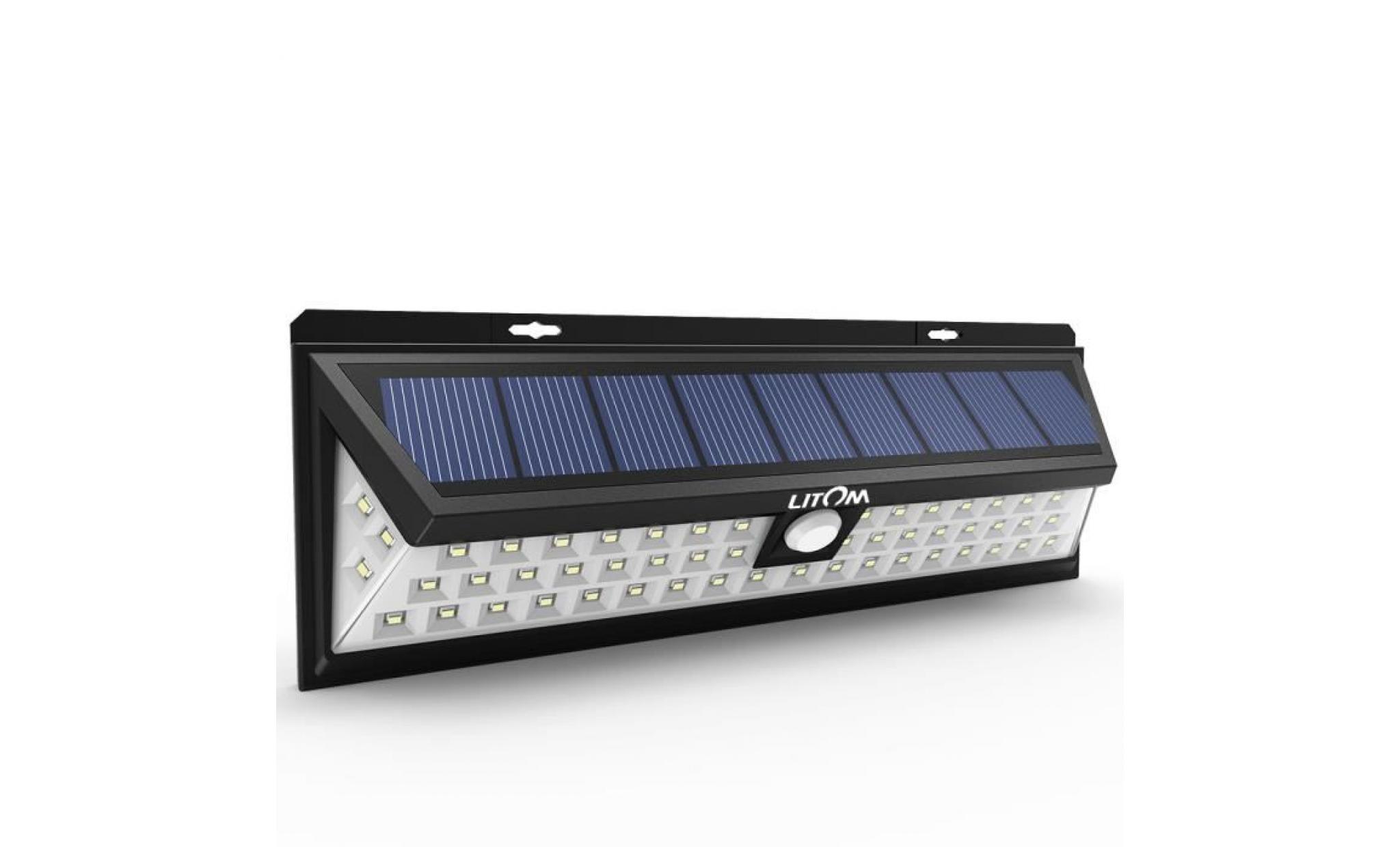 54 LED Solaire détecteur de mouvement etanche ,d\'extérieur à énergie  solaire de sécurité d\'éclairage extérieur pour Terrasse Jardin
