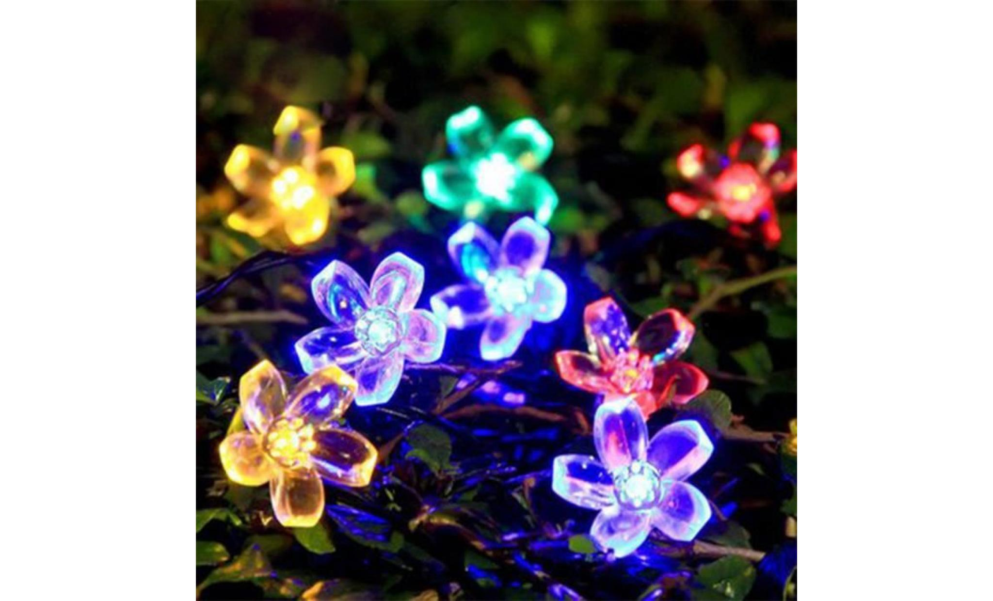 5m 50led peach flower lampes d'éclairage à énergie solaire outdoor garden party decor@pansy469