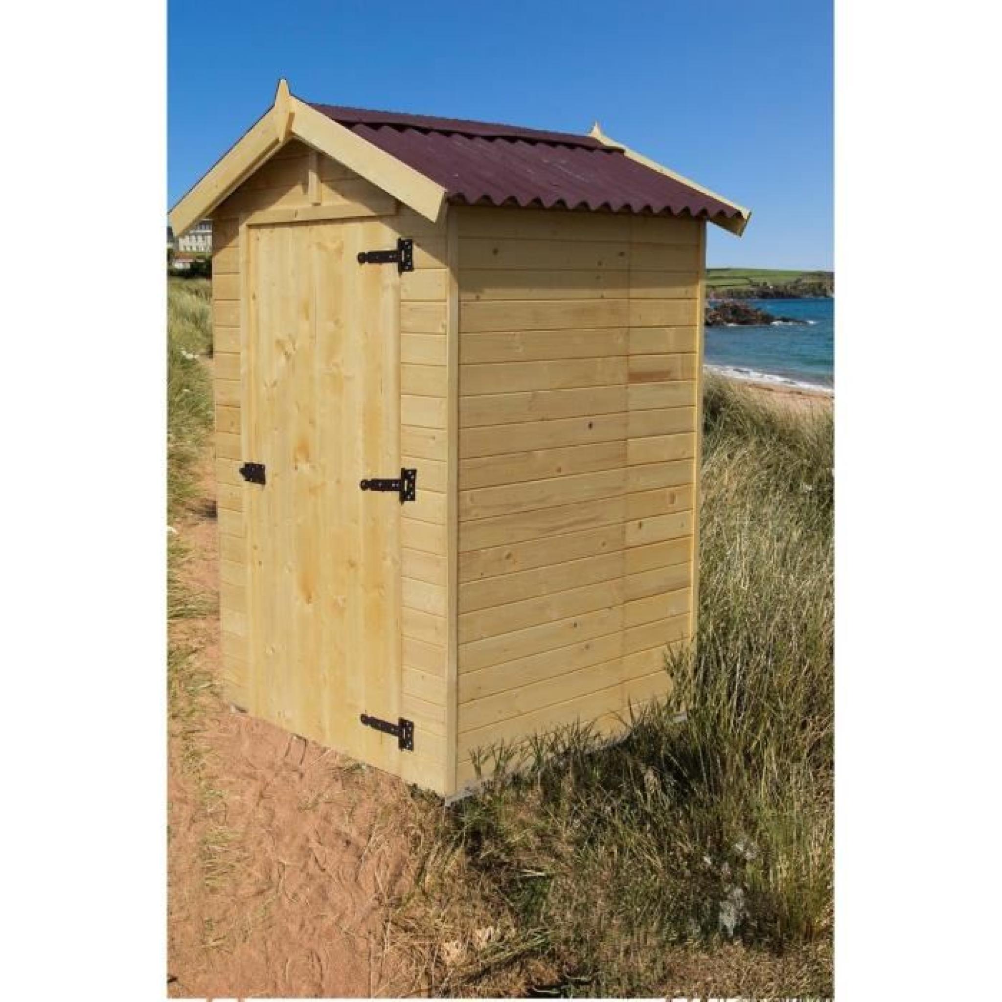 Abri de jardin 2,03m² en bois - Toiture en plaques ondulées - Achat/Vente abri de jardin en bois ...