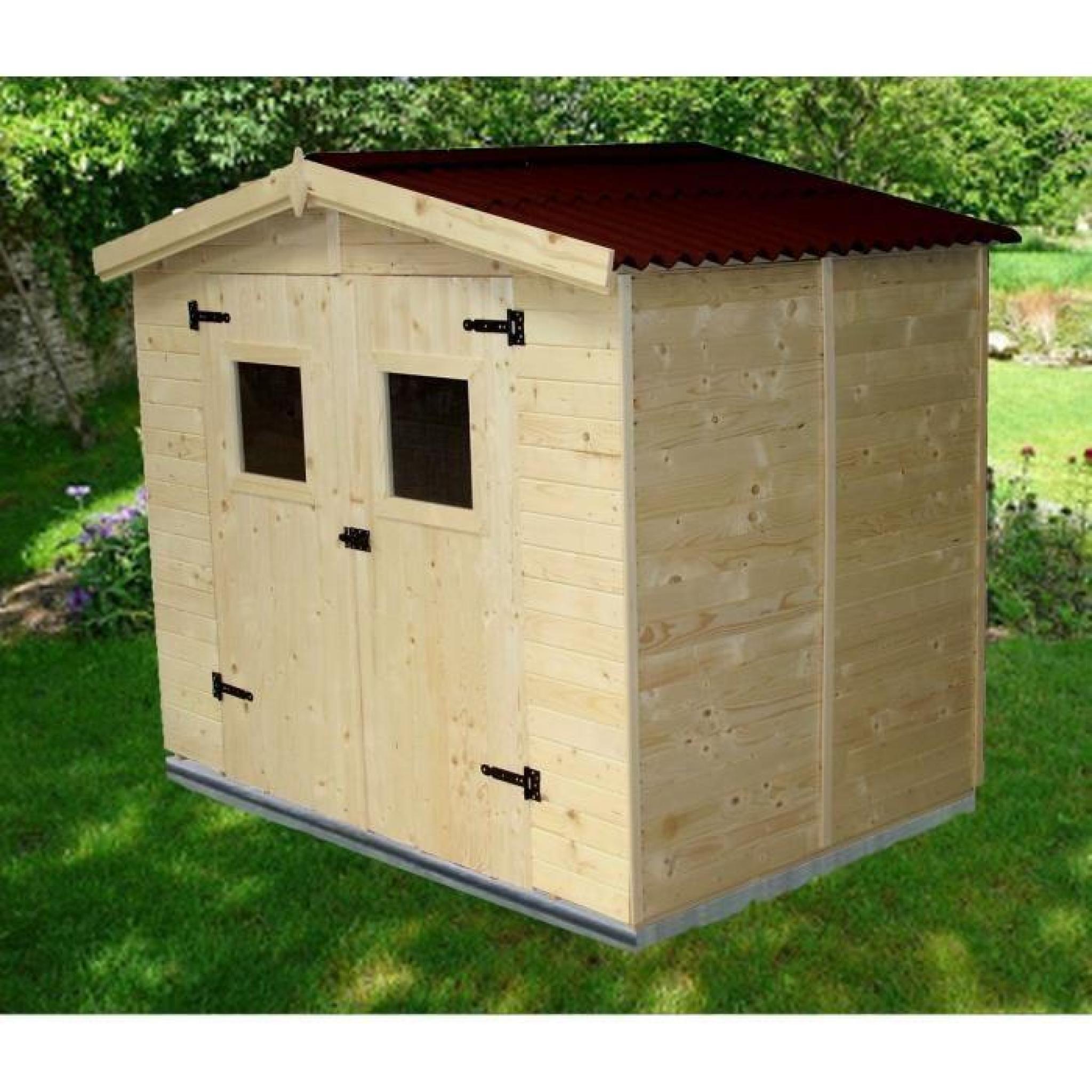 Abri de jardin 5,04m² en bois - Toiture en plaques ondulées - Achat/Vente abri de jardin en bois ...
