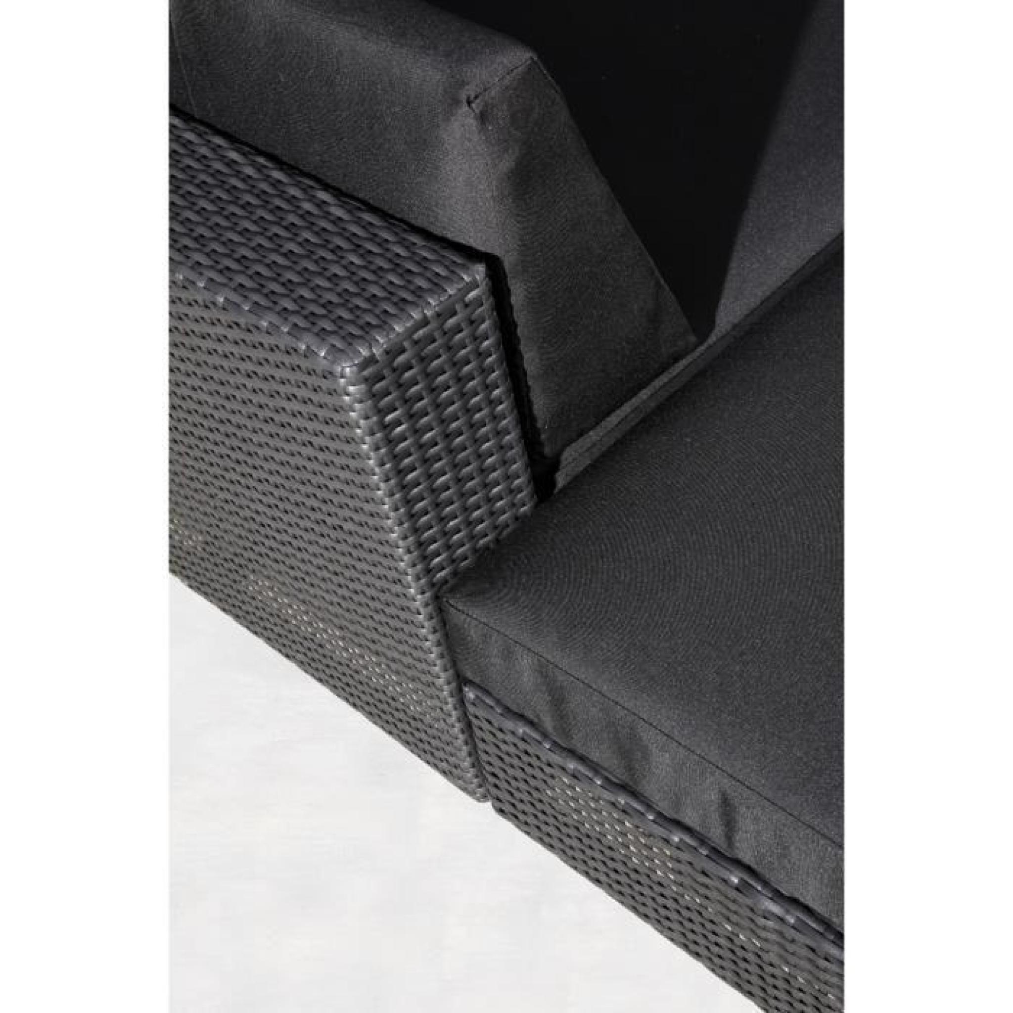 awesome salon de jardin angle noir images amazing house design. Black Bedroom Furniture Sets. Home Design Ideas