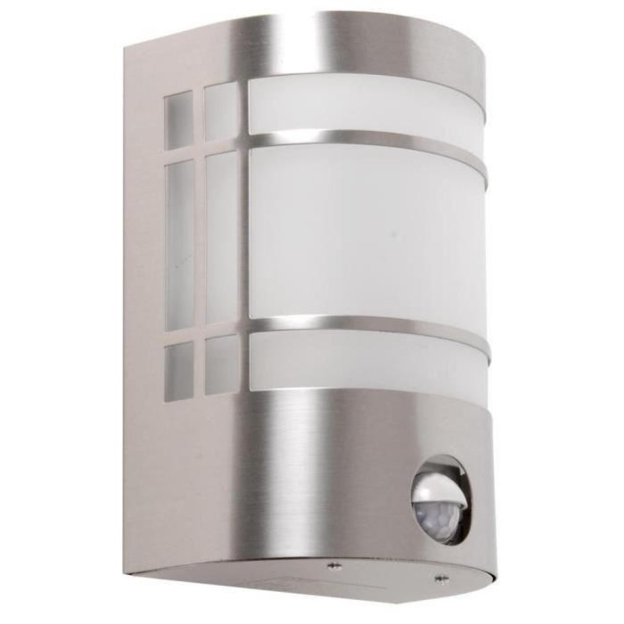 applique luminaire mural extérieur détecteur de movement inox verre
