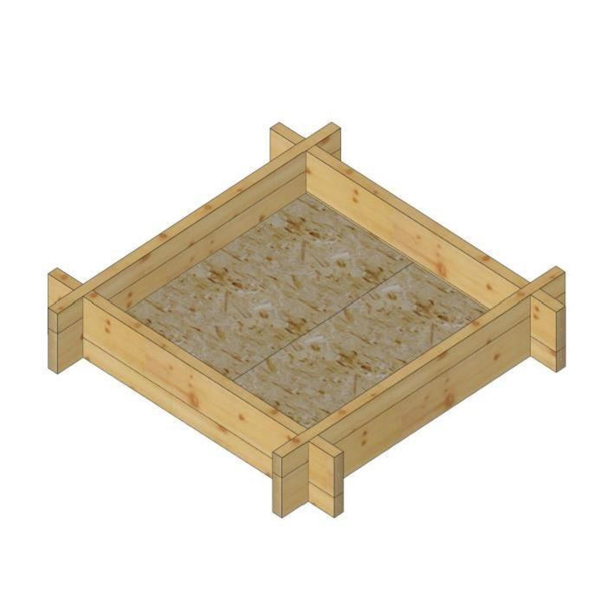 bac crottes bac jardinage l110 x l110 x h22 cm achat vente jardiniere en bois pas cher. Black Bedroom Furniture Sets. Home Design Ideas