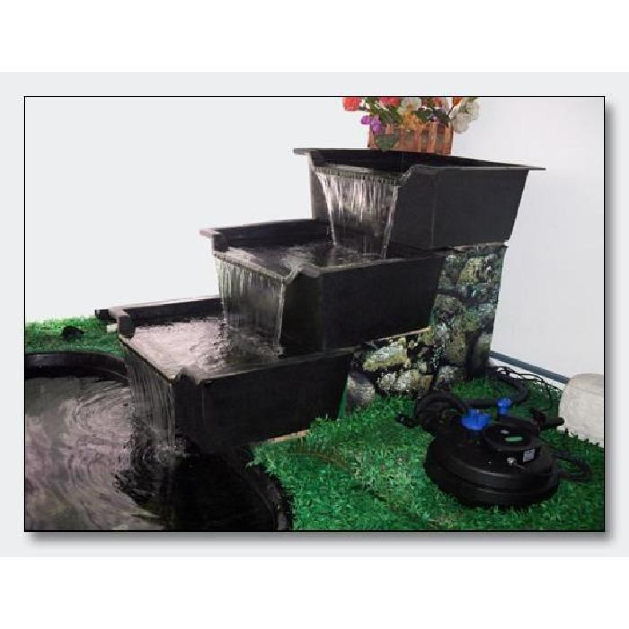 Bac cascade 61X 71 cm décoration pour bassins de jardin et étangs