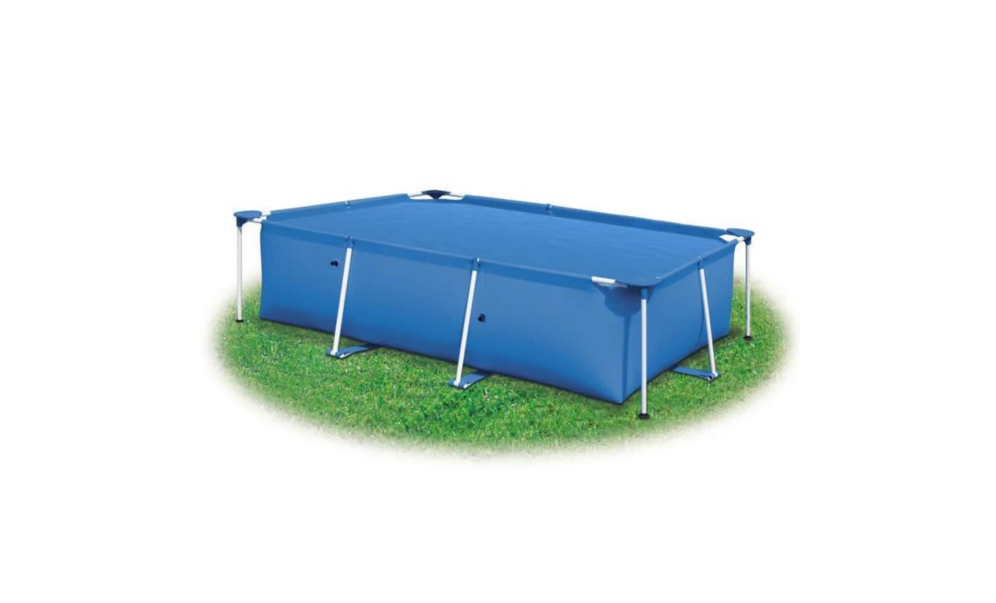 b che de piscine bleue rectangulaire en pe 260 x 160 cm. Black Bedroom Furniture Sets. Home Design Ideas