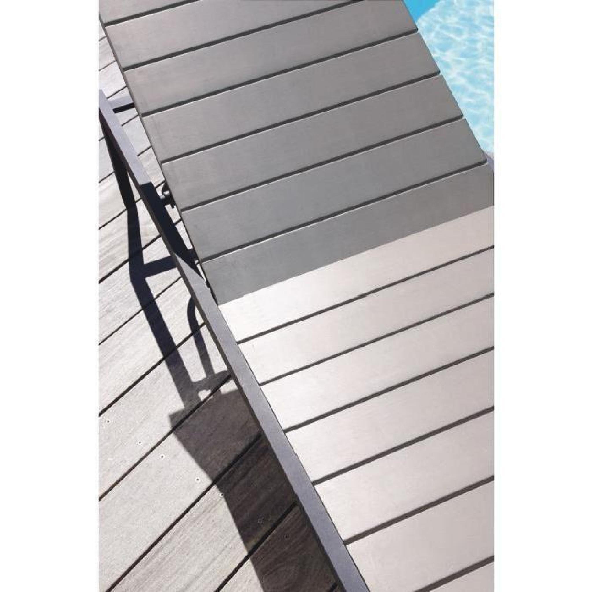 Bain de soleil en aluminium et nowood - Gris - Achat/Vente transat ...