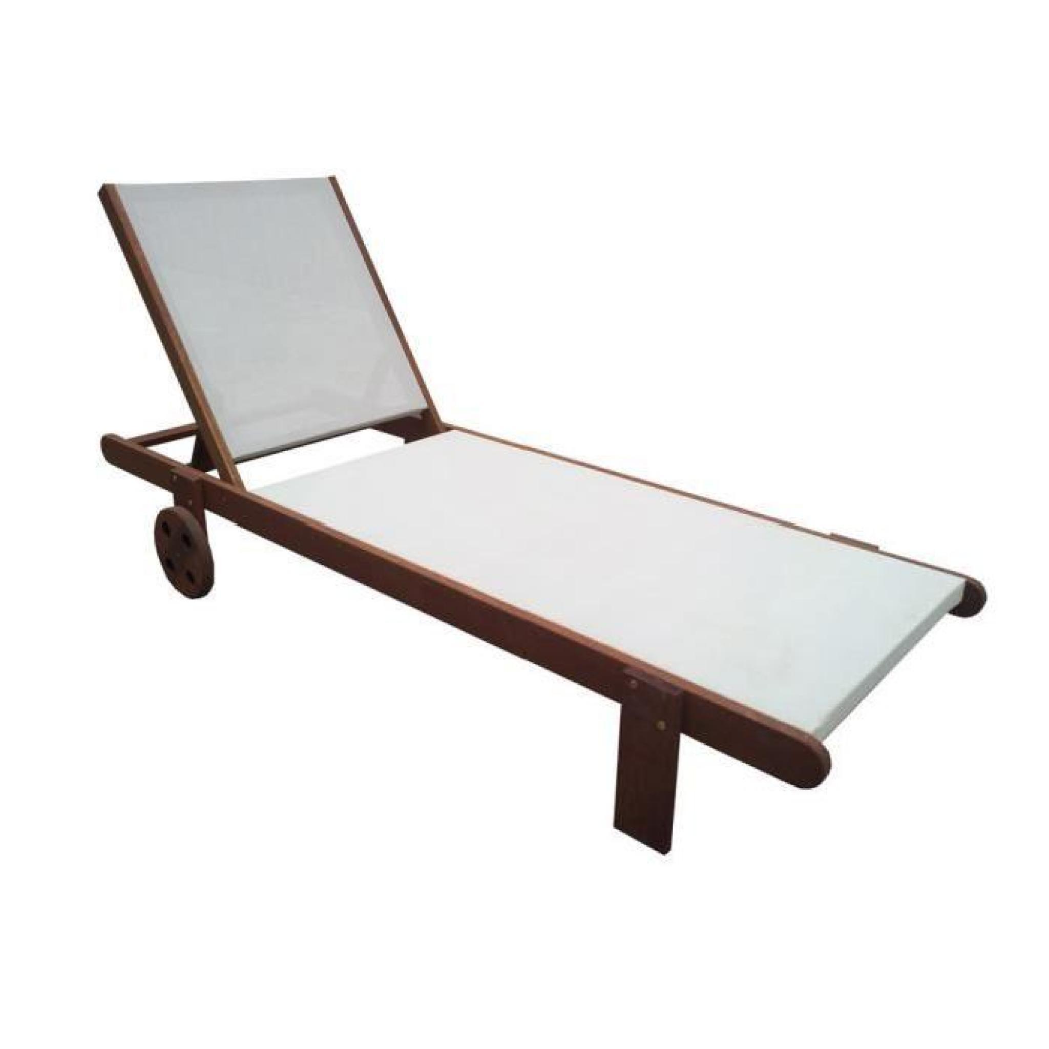 bain de soleil en bois exotique sa gon maple marron clair achat vente transat de jardin. Black Bedroom Furniture Sets. Home Design Ideas