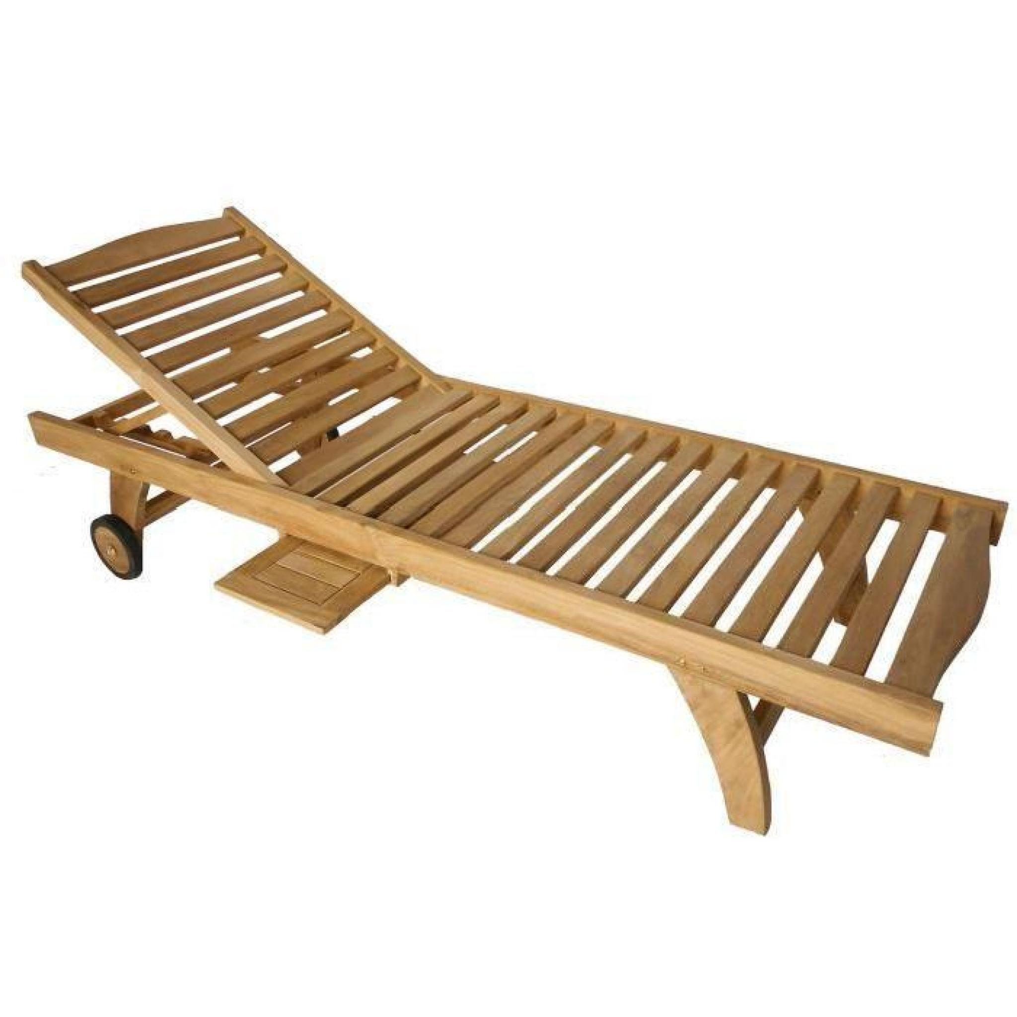 bain de soleil inclinable en teck achat vente transat de. Black Bedroom Furniture Sets. Home Design Ideas