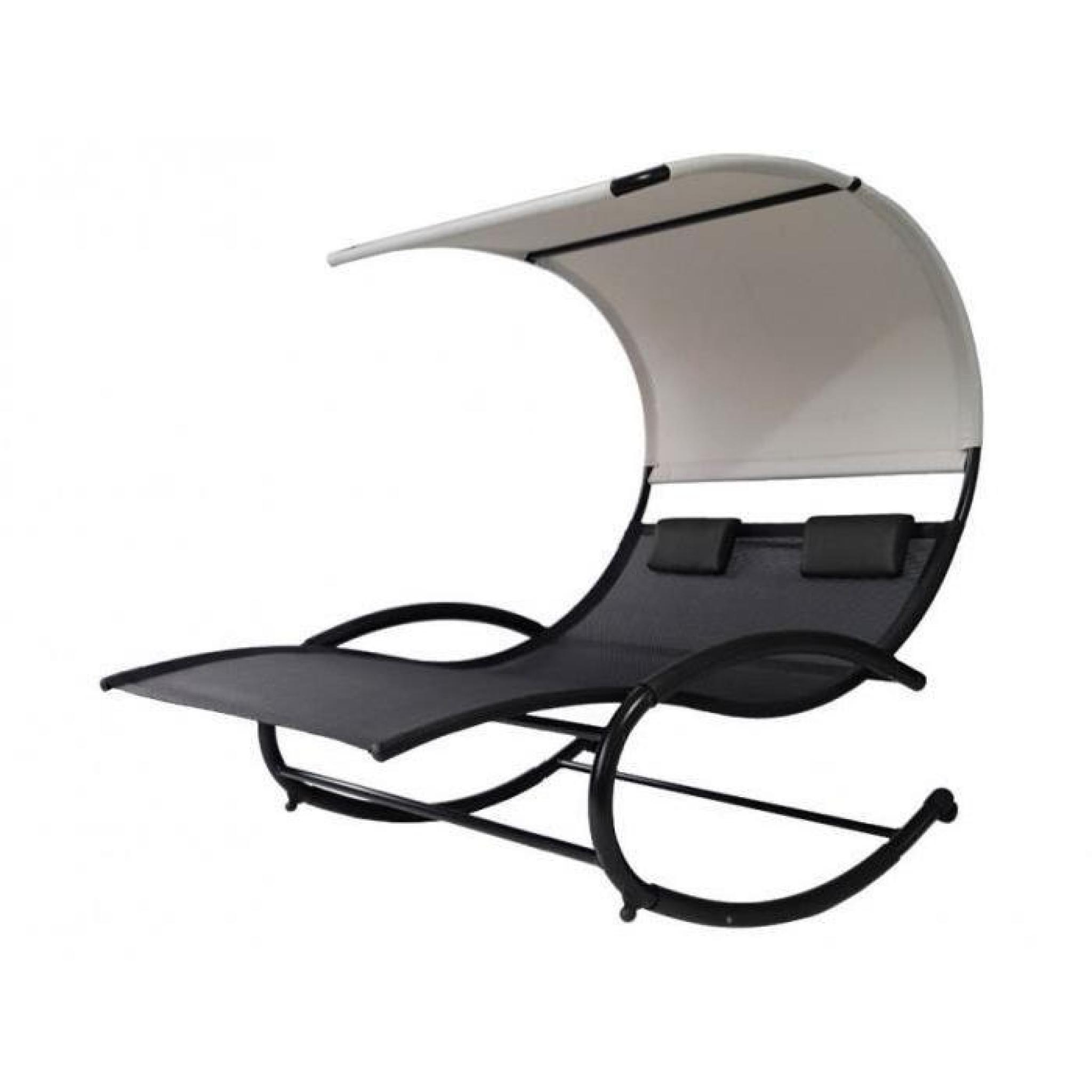 bain de soleil sumba en aluminium et textil ne gris. Black Bedroom Furniture Sets. Home Design Ideas