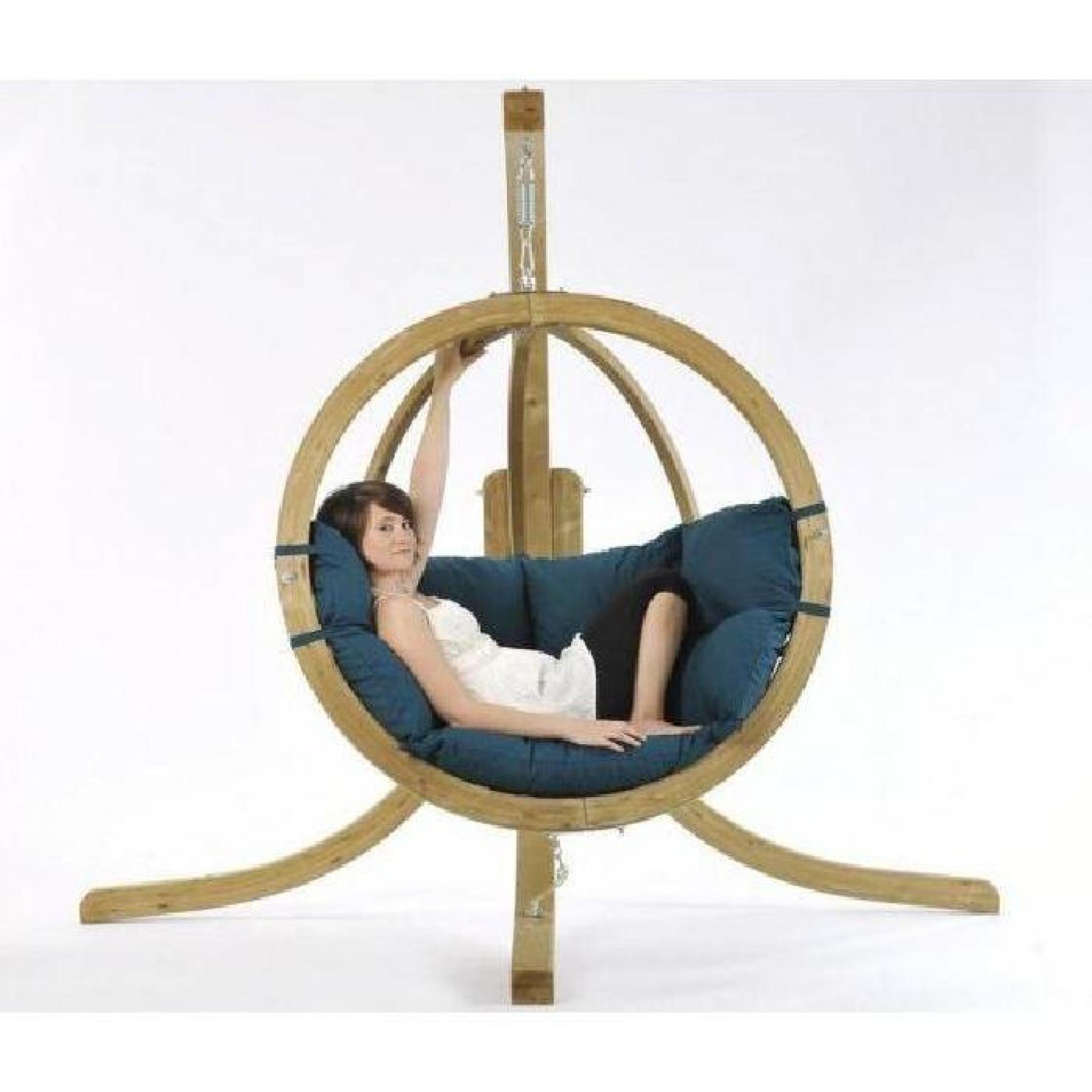 balancelle bois globo amazonas vert achat vente balancelle de jardin pas cher. Black Bedroom Furniture Sets. Home Design Ideas