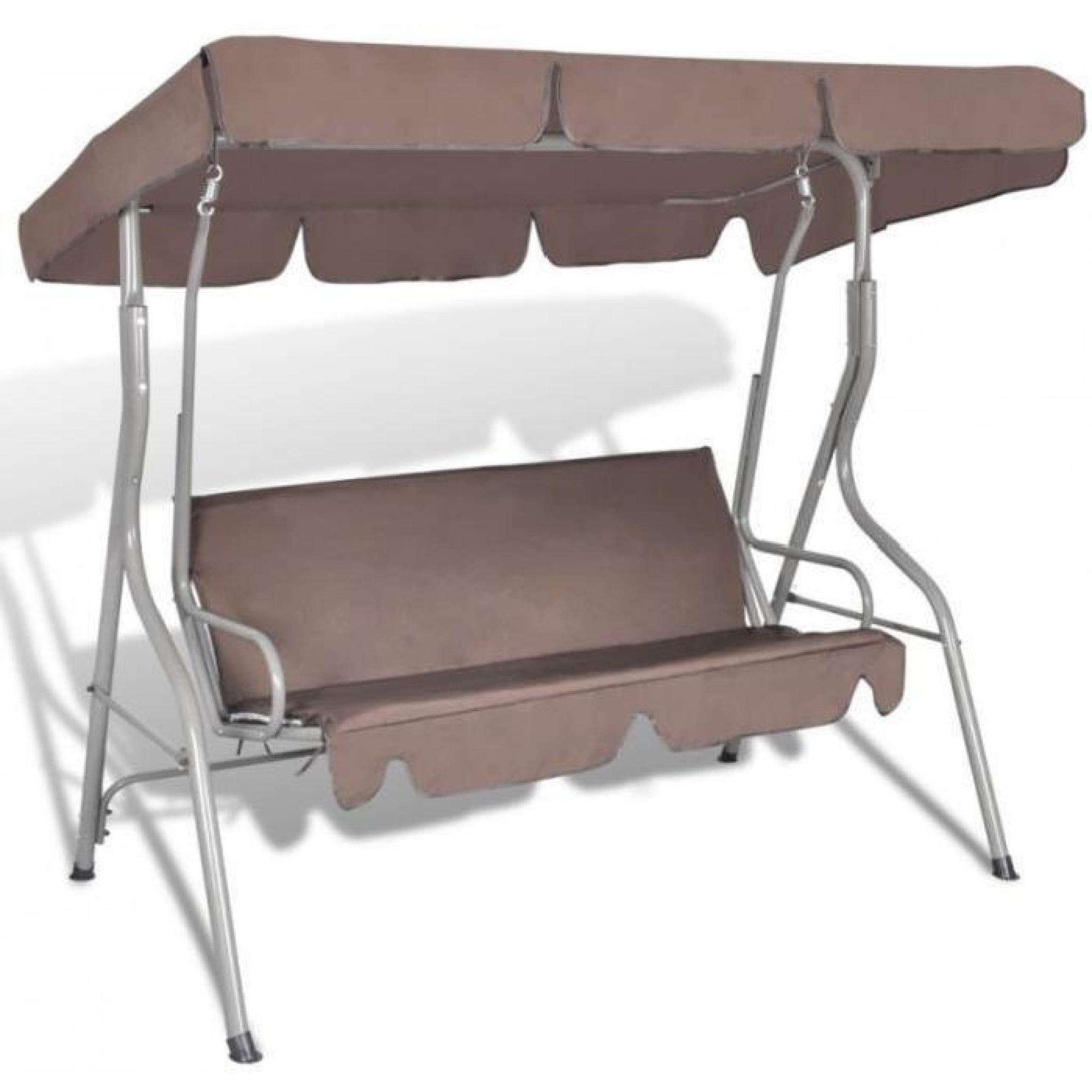 balancelle de jardin avec auvent abri jardin 2202045. Black Bedroom Furniture Sets. Home Design Ideas