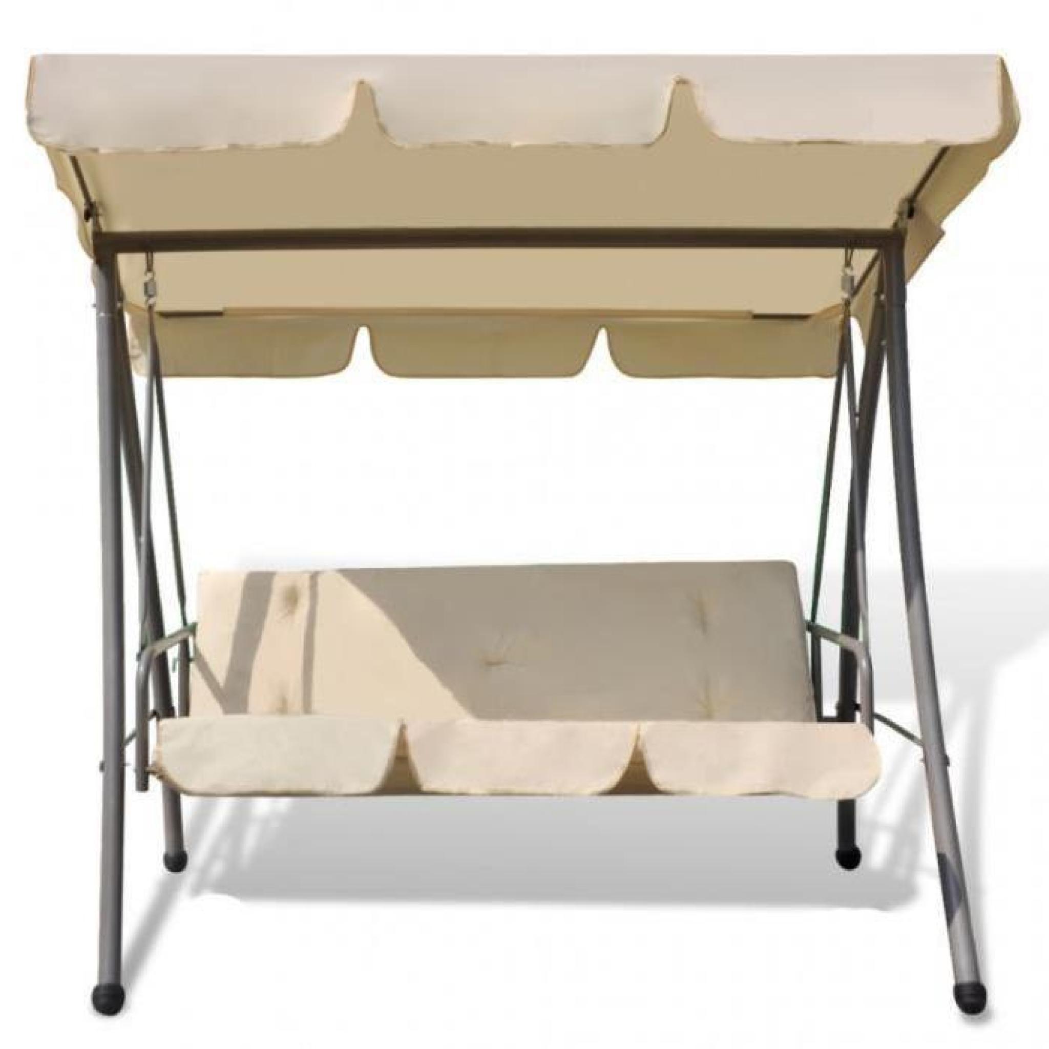 balancelle de jardin avec auvent abri convertible lit. Black Bedroom Furniture Sets. Home Design Ideas