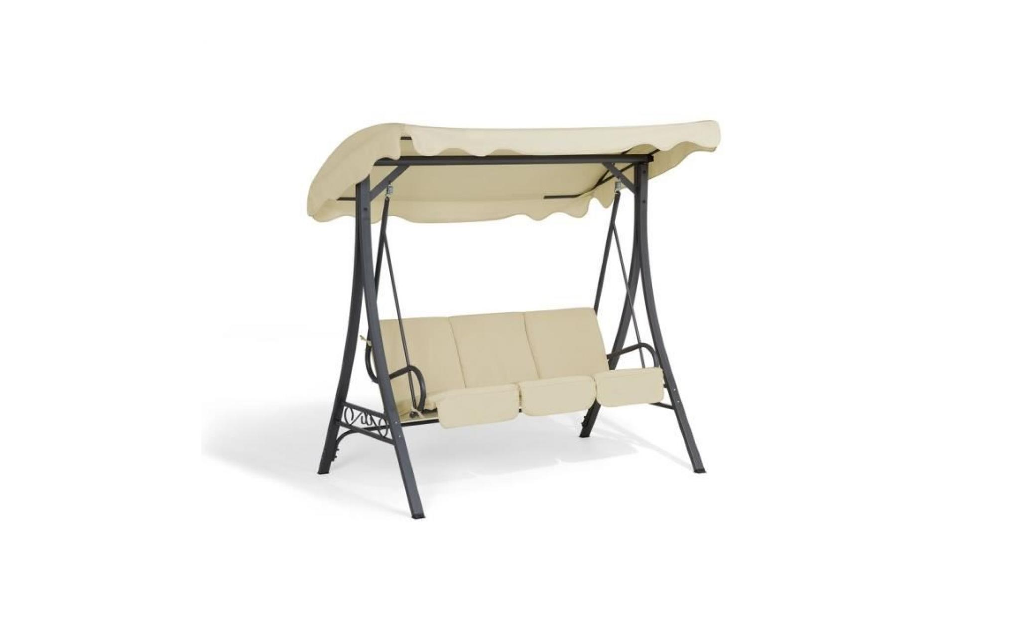 balancelle de jardin balan oire de jardin beige garbo. Black Bedroom Furniture Sets. Home Design Ideas