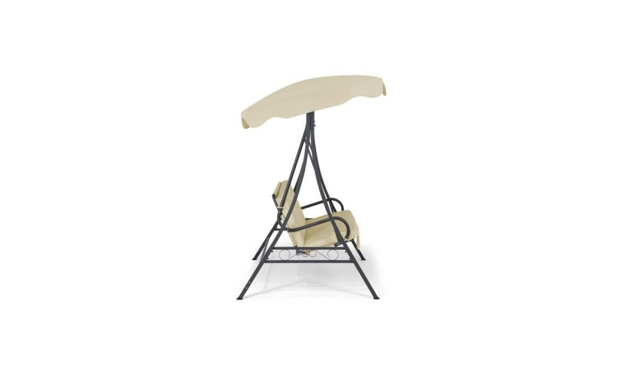 balancelle de jardin balan oire de jardin beige garbo achat vente balancelle de jardin pas. Black Bedroom Furniture Sets. Home Design Ideas