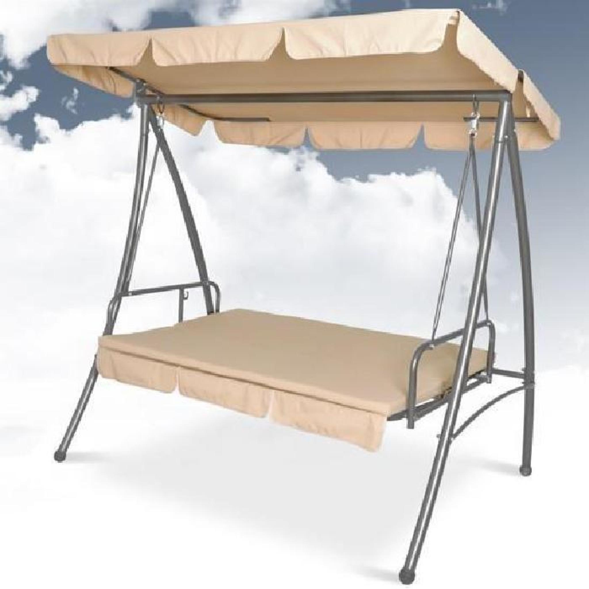 balancelle de jardin 3 places position assise ou. Black Bedroom Furniture Sets. Home Design Ideas