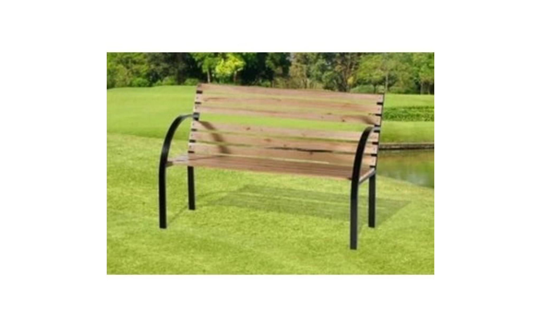 banc de jardin en bois et métal Achat Vente banc de jardin en bois pas cher Coindujardin com # Banc En Bois De Jardin