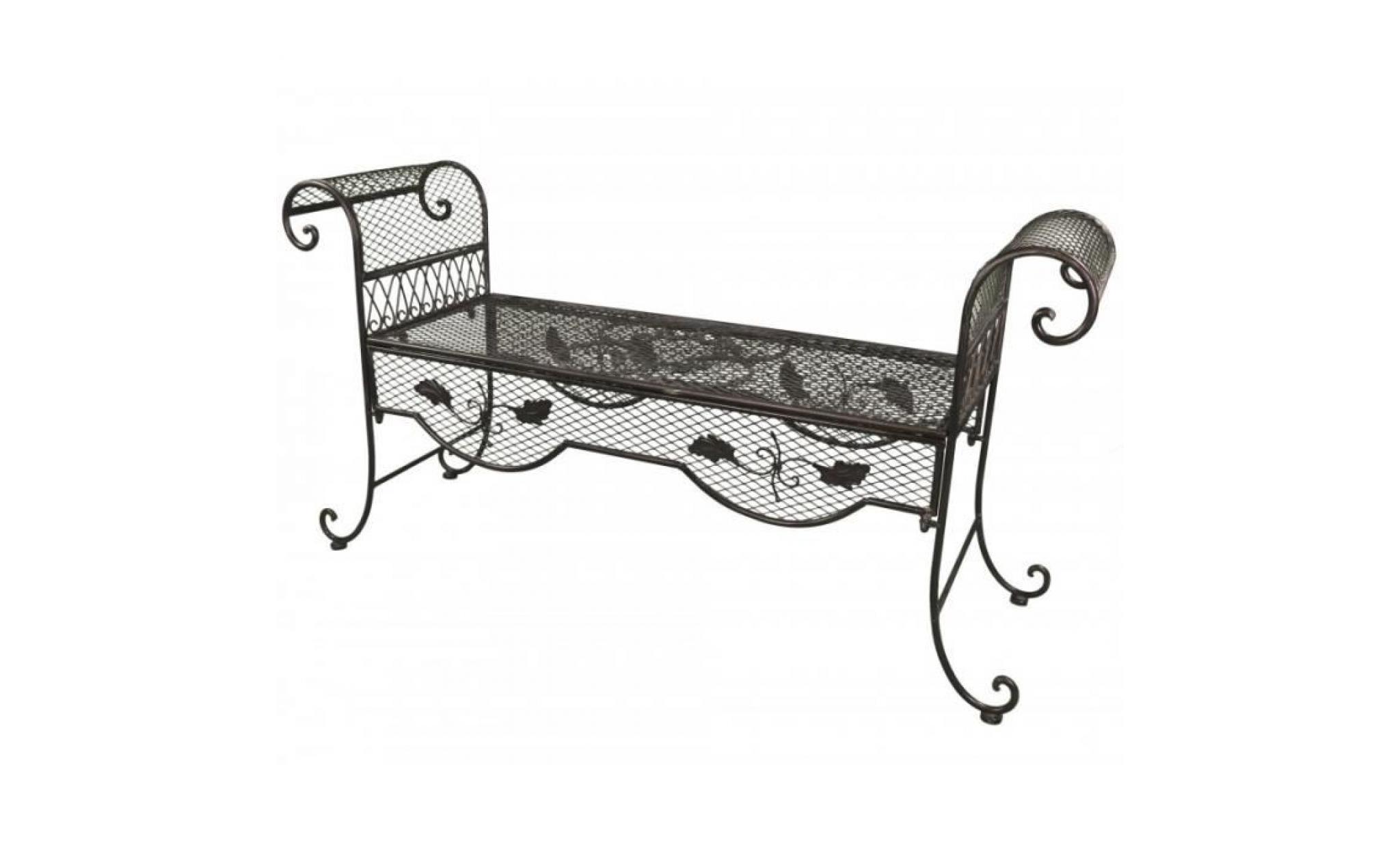 banc style dagobert banquette fauteuil mobilier de jardin. Black Bedroom Furniture Sets. Home Design Ideas