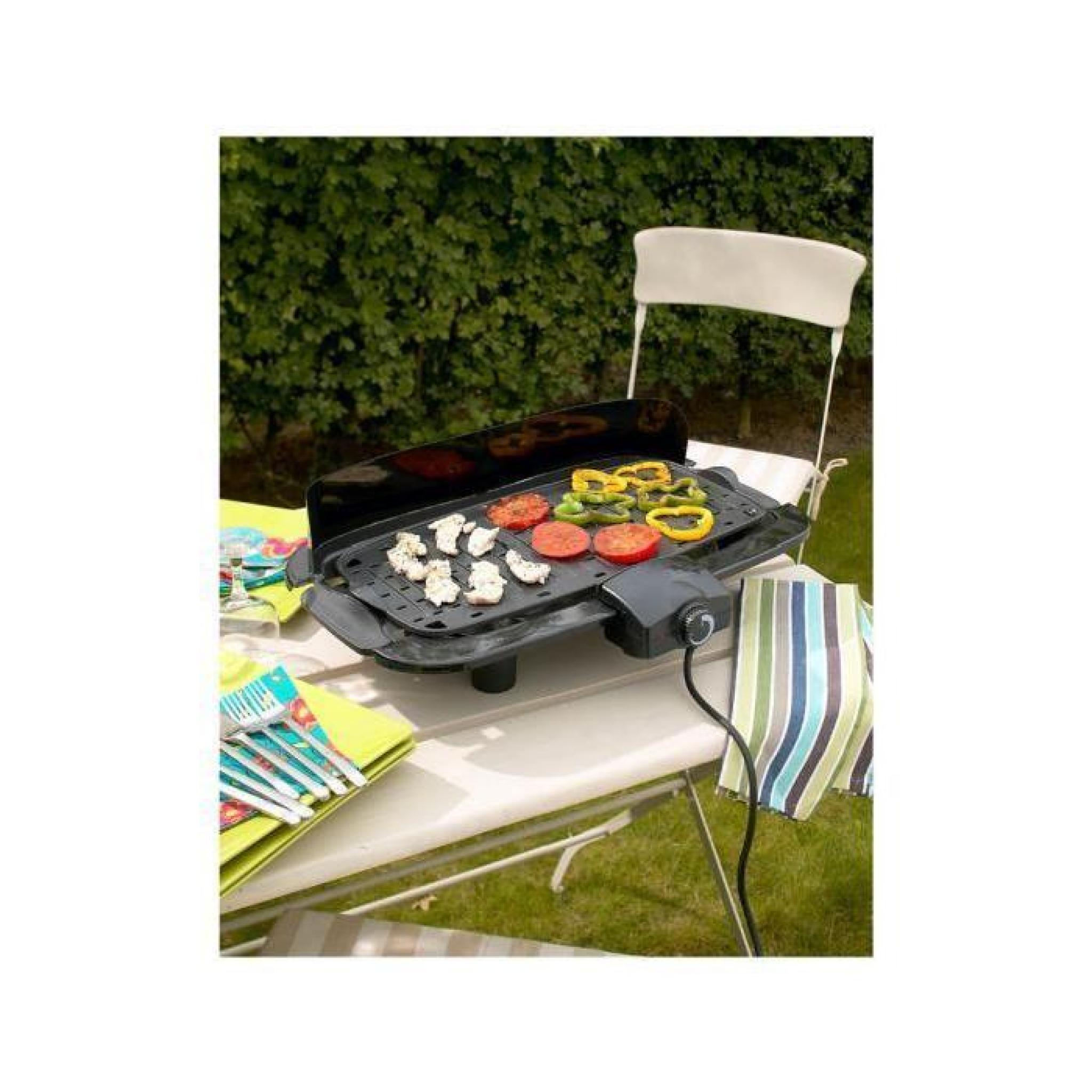 barbecue lectrique avec cuisson sur plancha achat vente plancha electrique pas cher. Black Bedroom Furniture Sets. Home Design Ideas
