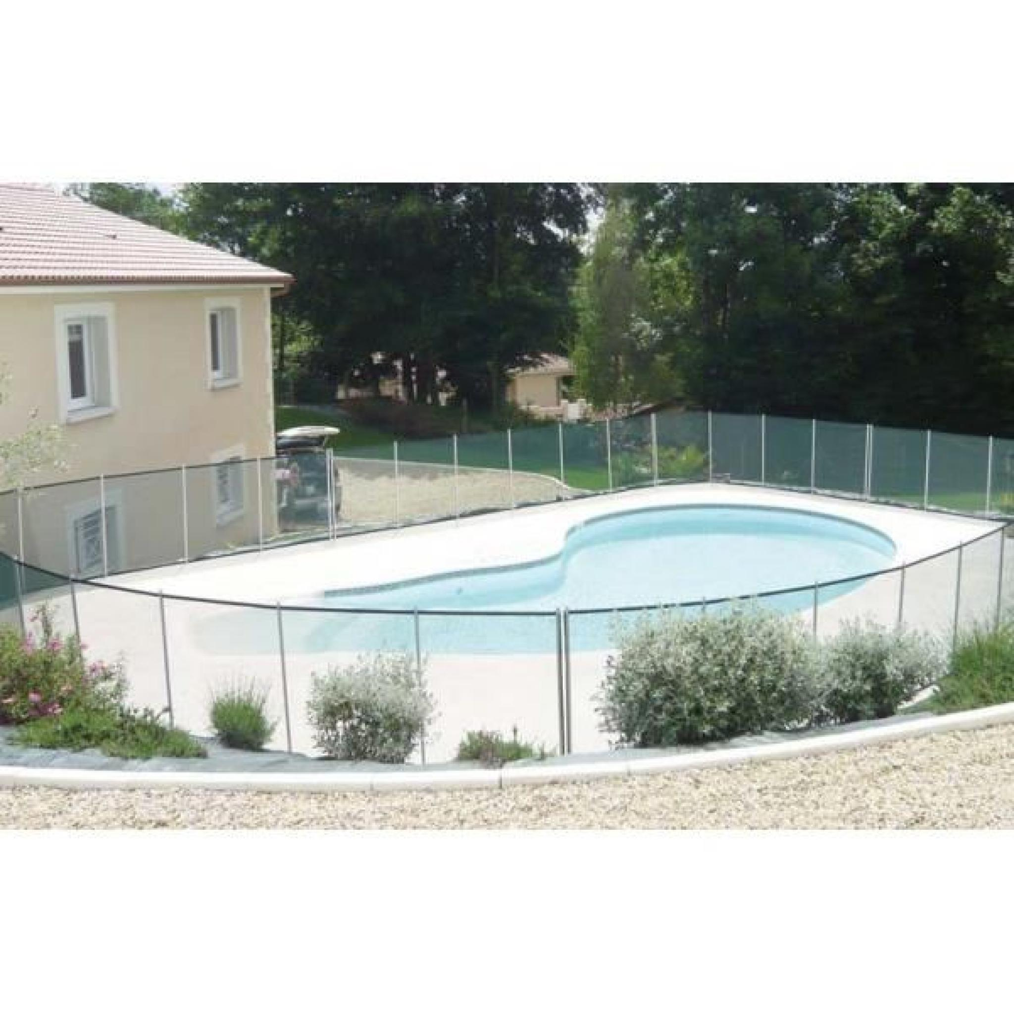 Barriere de piscine beethoven noire piquets noirs 8 for Barriere de piscine demontable