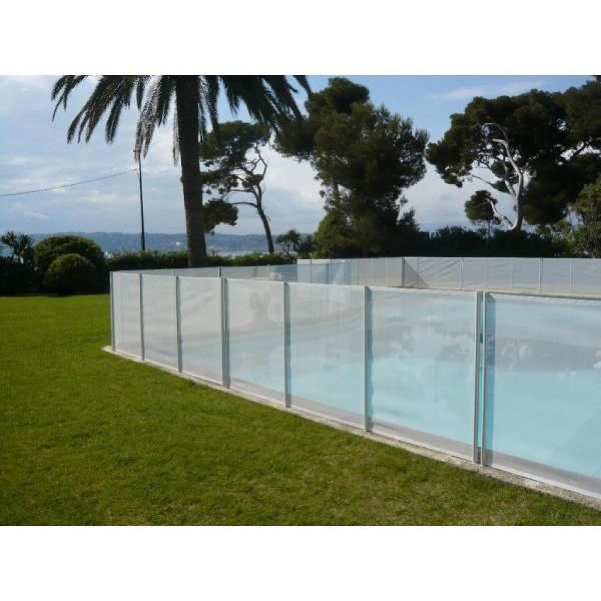 Barriere de piscine beethoven prestige blanche avec for Barriere beethoven