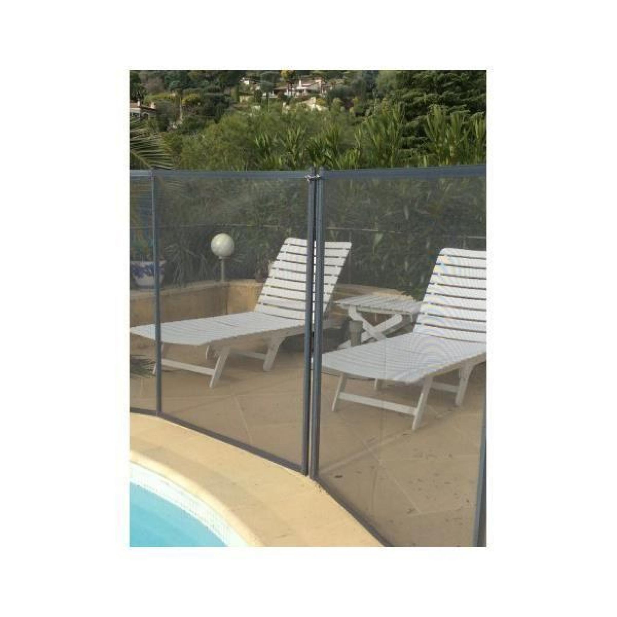barriere de piscine beethoven prestige grise avec piquets gris 8 m tres achat vente securite. Black Bedroom Furniture Sets. Home Design Ideas