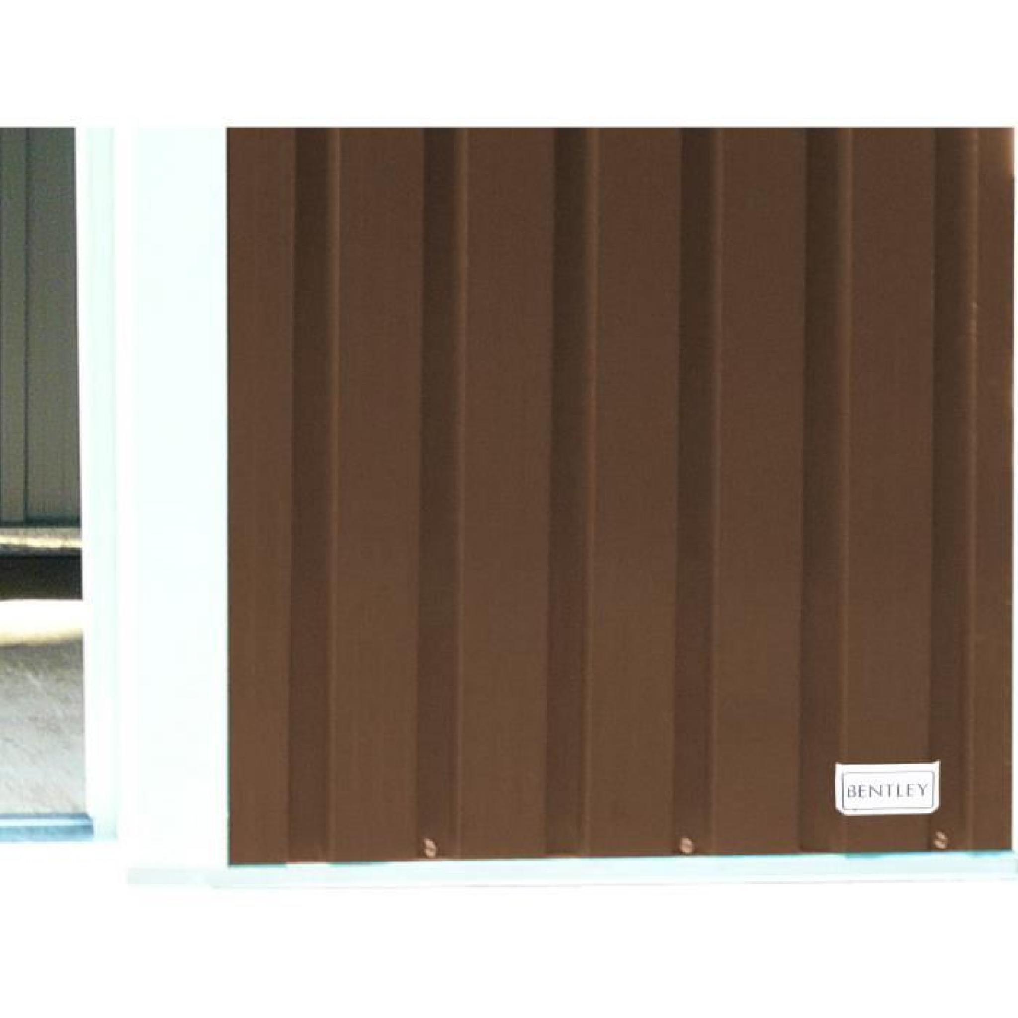 Bentley garden - Abri/remise de jardin - zinc/métal - marron - 2,4 x ...