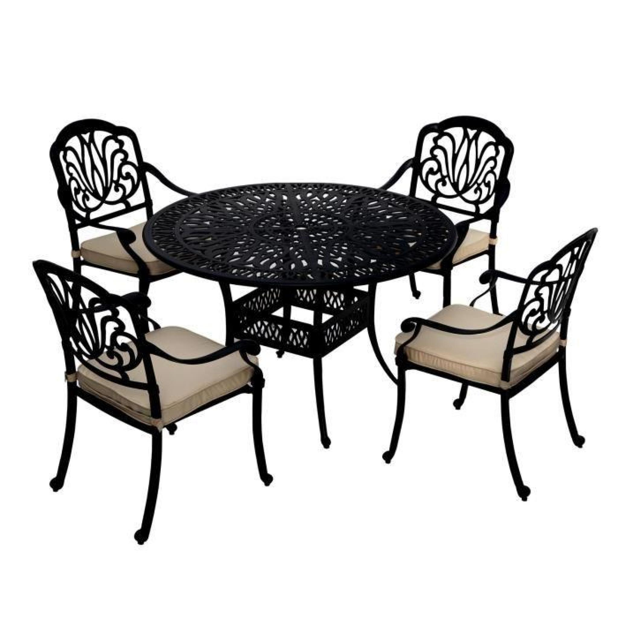 bentley garden salon de jardin de qualit aluminium moul pour 4 personnes achat vente. Black Bedroom Furniture Sets. Home Design Ideas