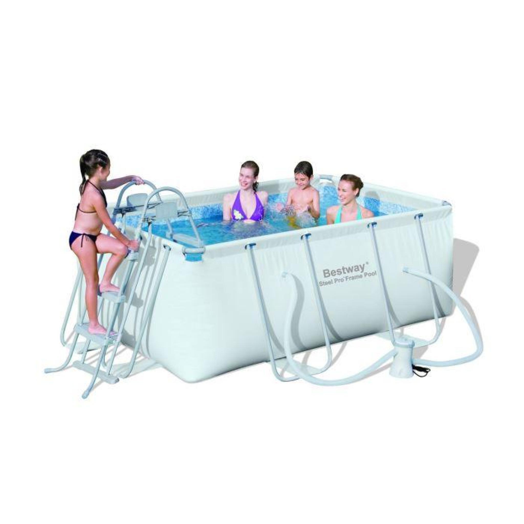 piscine tubulaire rectangulaire bestway bestway steel pro kit piscine rectangulaire tubulaire 2