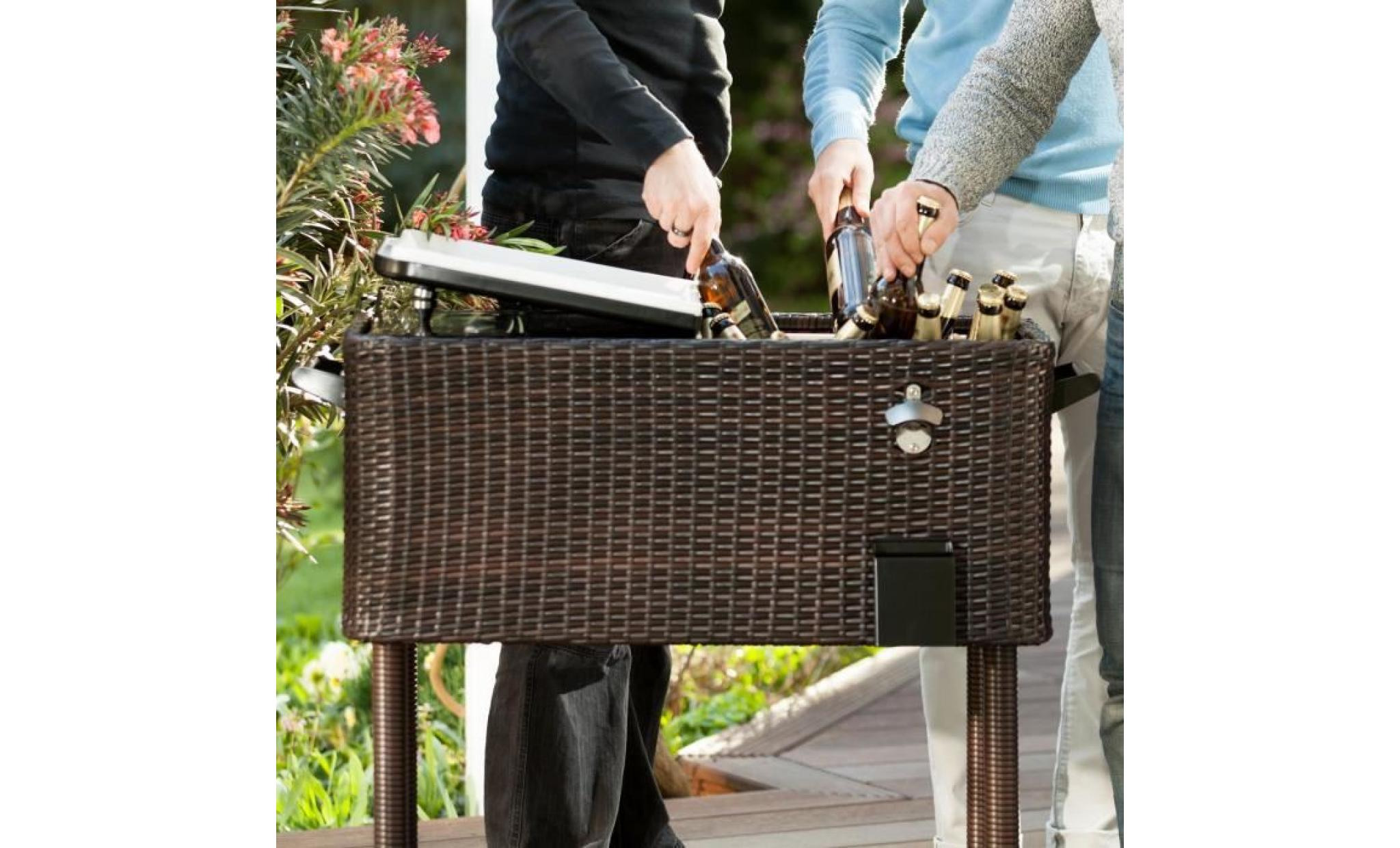 Blumfeldt springbreak chariot bar glaci re frigorifique de for Bar de jardin pas cher