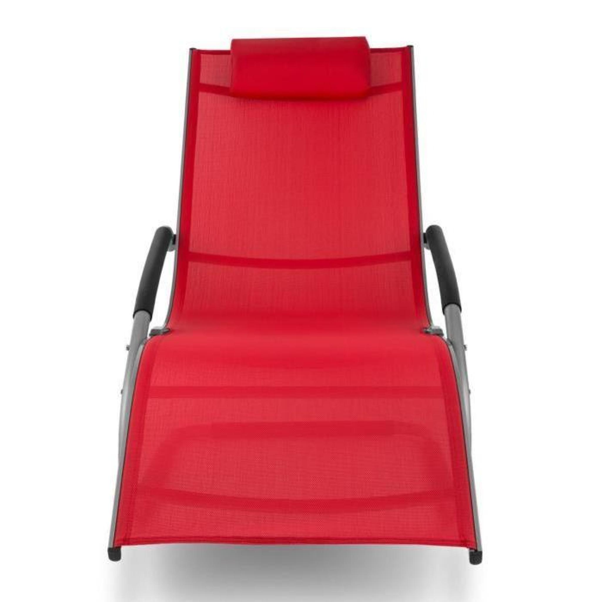 Blumfeldt sunwave chaise longue de jardin avec for Transat chaise longue pas cher
