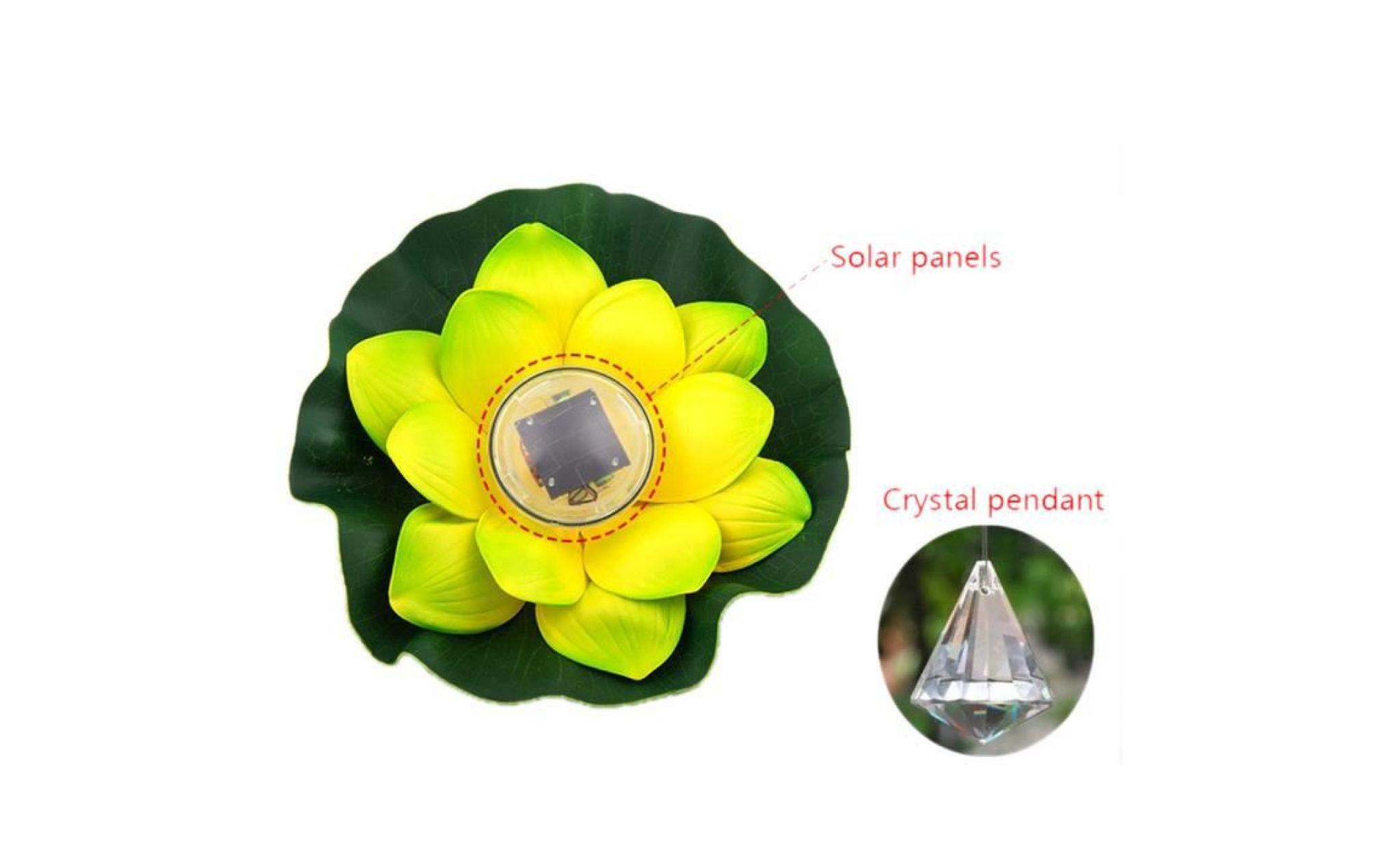 borne solaire 1 pcs solaire en plein air flottant lotus light pool pond jardin eau fleur led lampe #si 254 pas cher