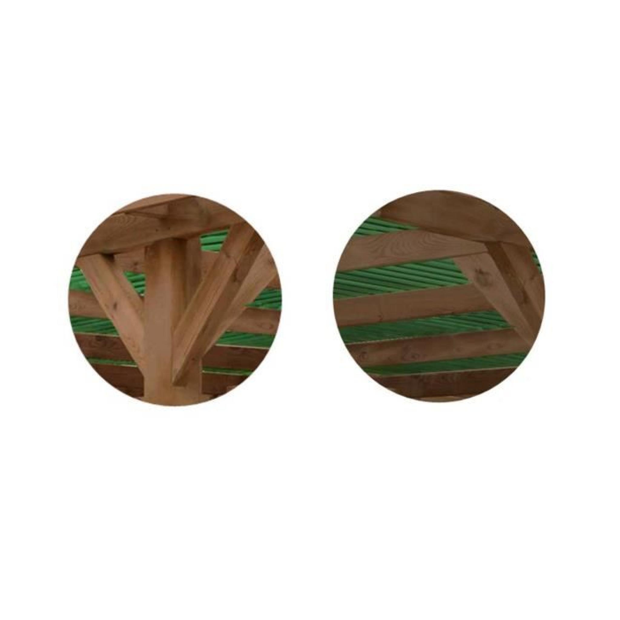 Carport bois trait marron 15 56m achat vente carport en bois pas cher c - Carport en bois pas cher ...