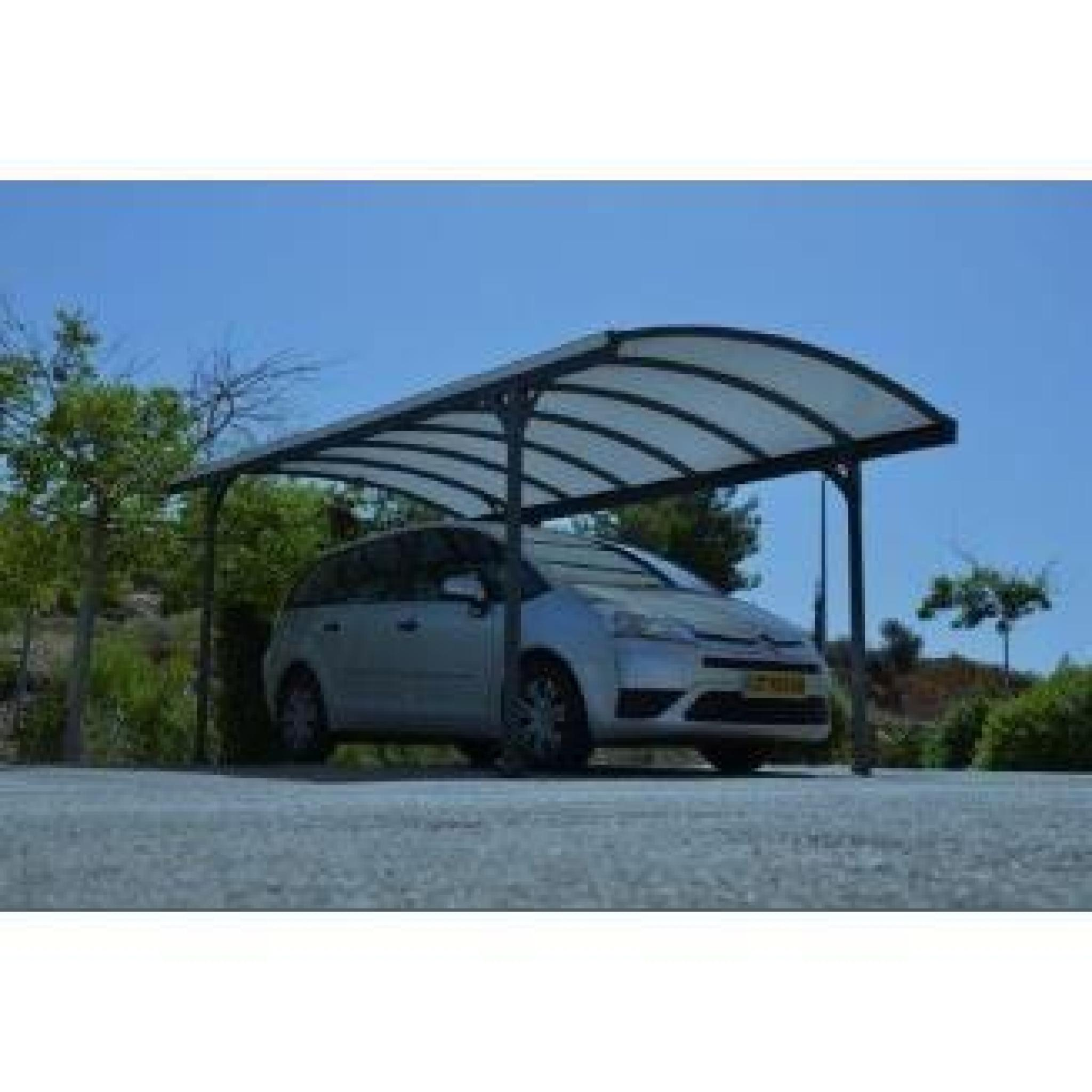 Carport delage gris m tal achat vente carport en aluminium pas cher coind - Carport aluminium pas cher ...