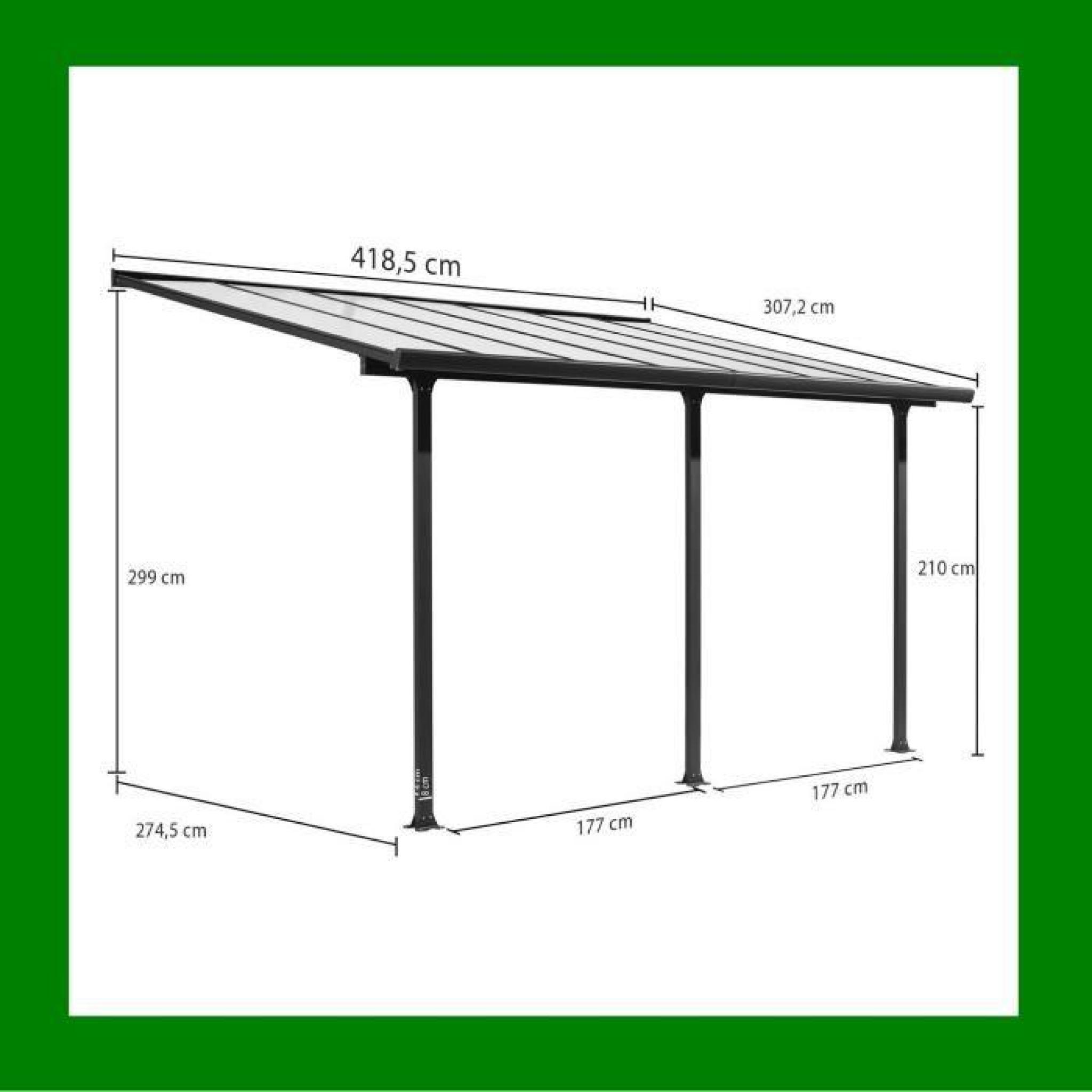 Carport Toit Terrasse Pergola 3x4 M En Aluminium