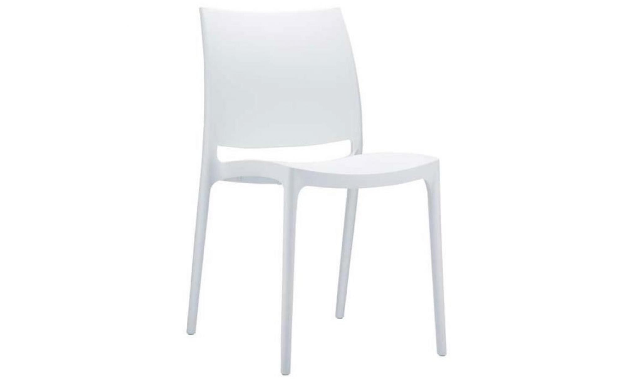 chaise de jardin empilable en plastique blanc achat. Black Bedroom Furniture Sets. Home Design Ideas