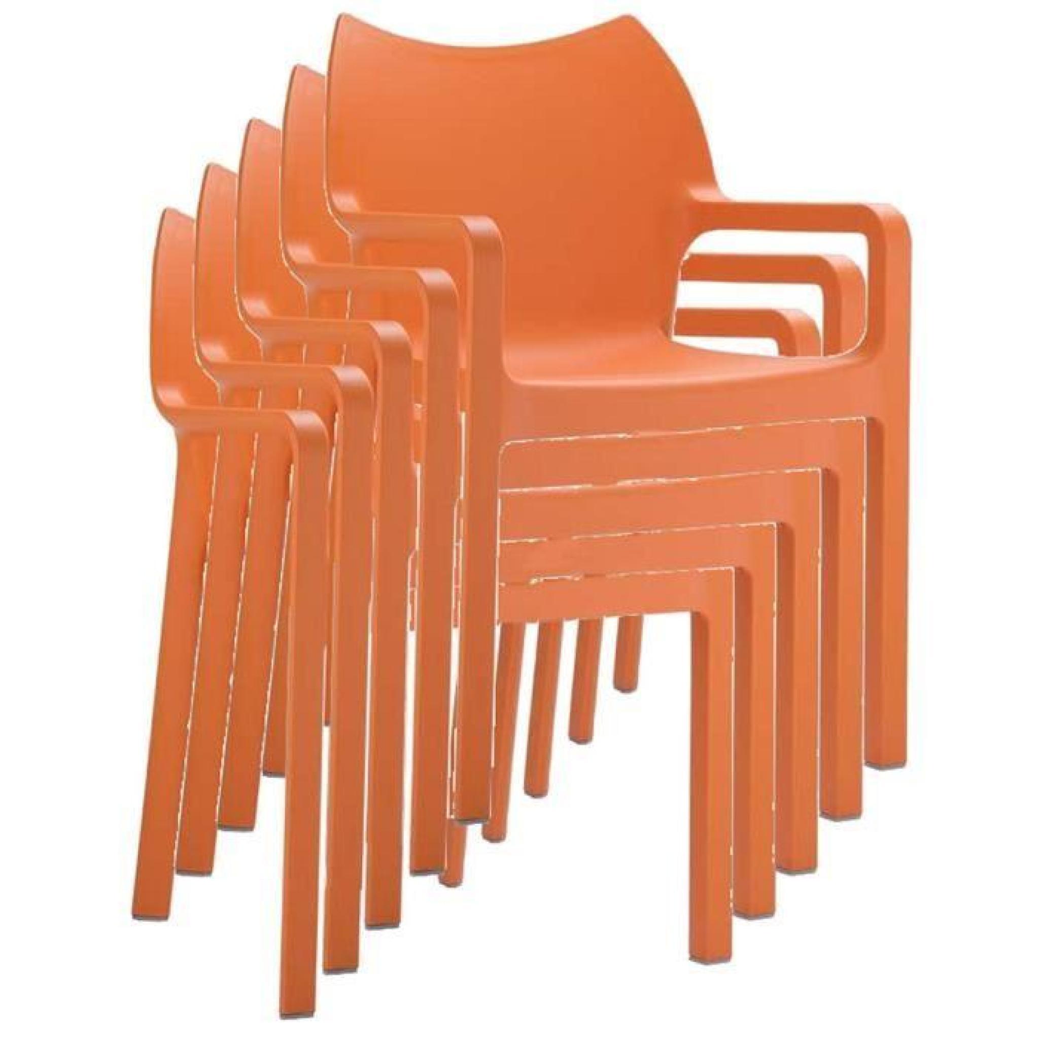 chaise de jardin empilable en plastique orange achat. Black Bedroom Furniture Sets. Home Design Ideas