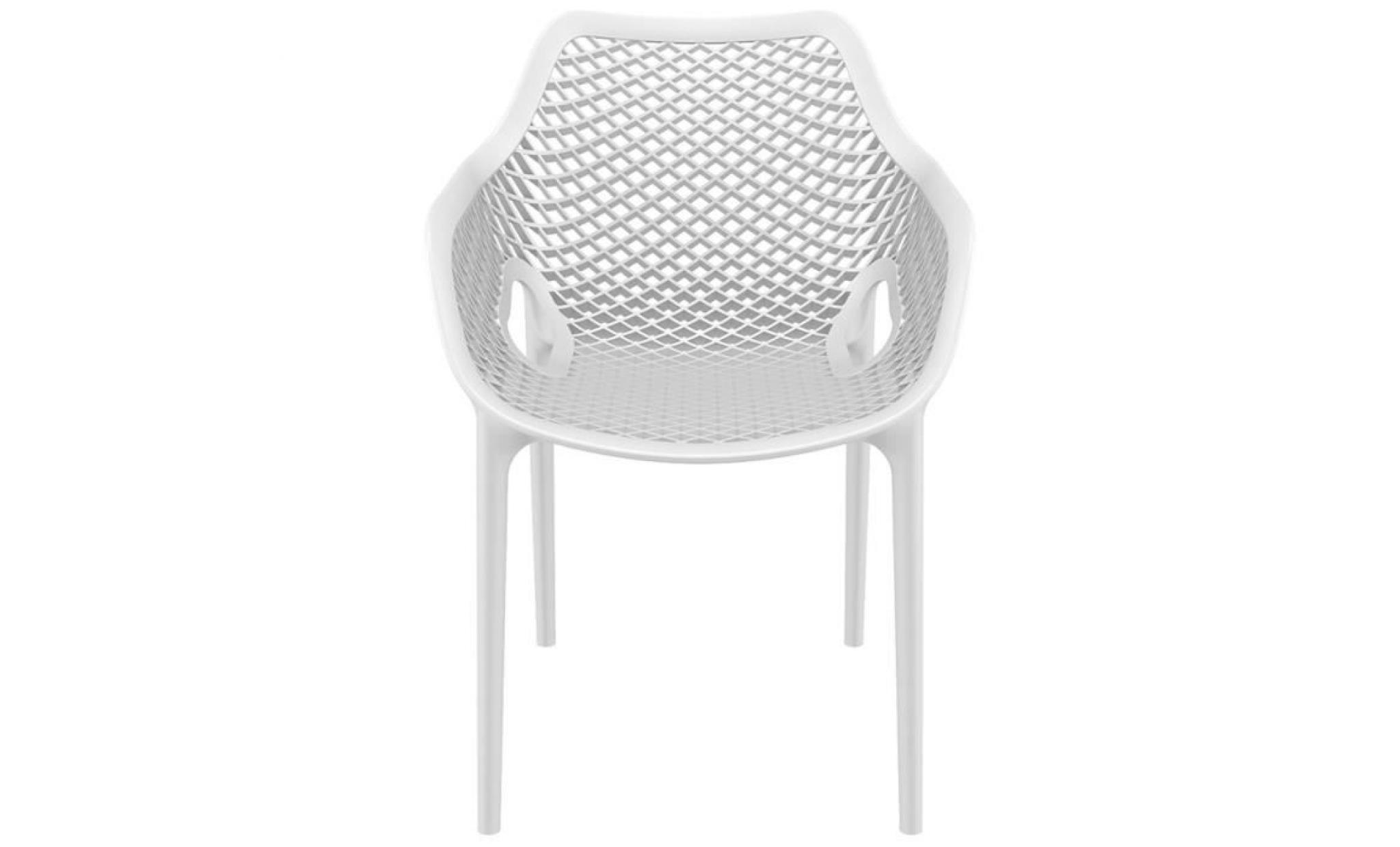 Chaise de jardin terrasse 39 sister 39 blanche en mati re Chaise de terrasse pas cher