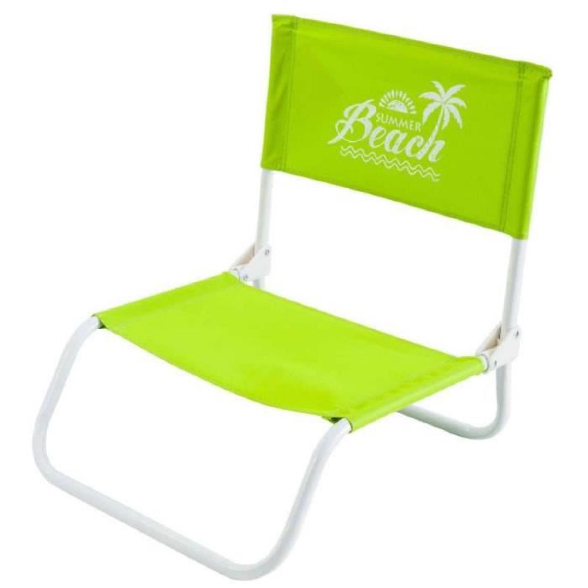 Chaise De Plage Pliable 45x40x18cm Vert