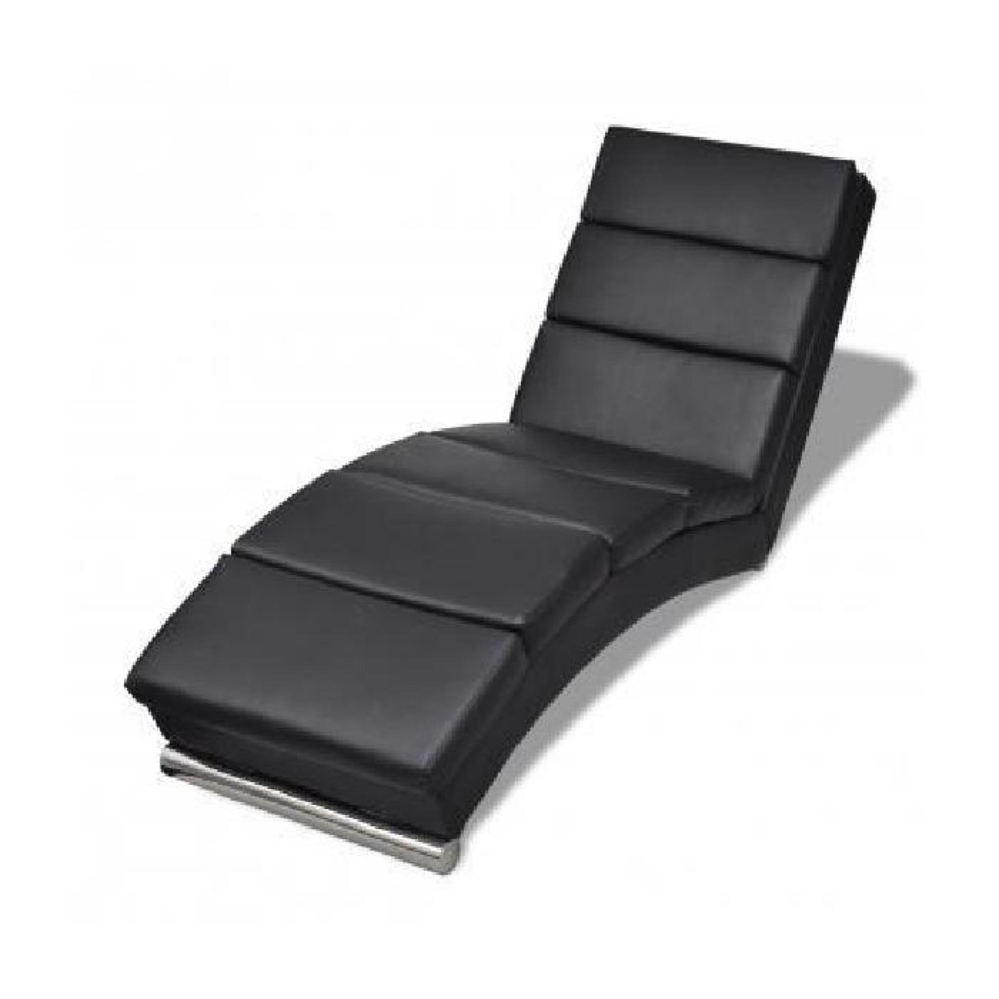 Chaise longue noire stylashop achat vente transat de for Chaise longue noire