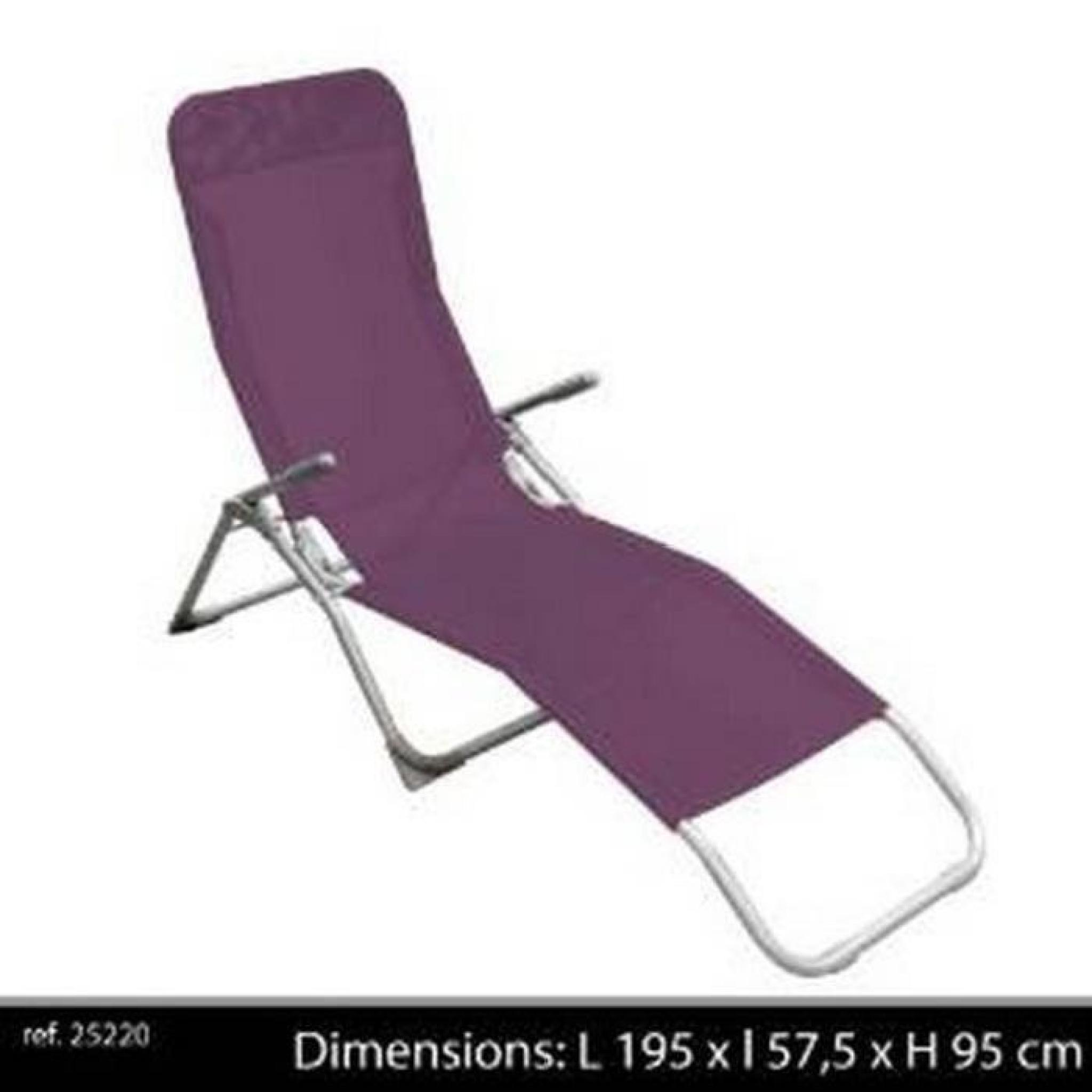 Chaise Longue De Jardin Pliante chaise longue pliante avec poignee transat de jardin bain de soleil