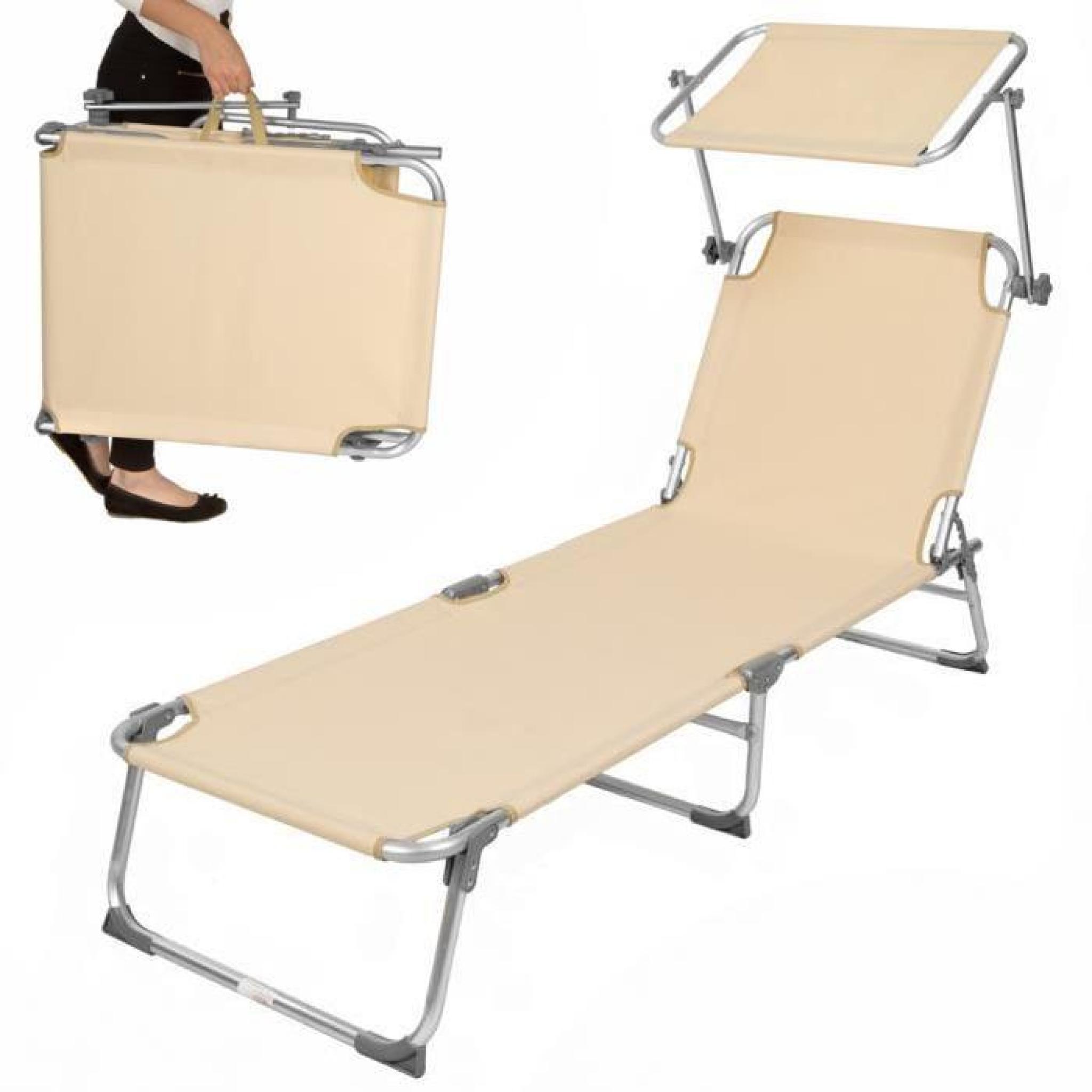 chaise longue transat en promo
