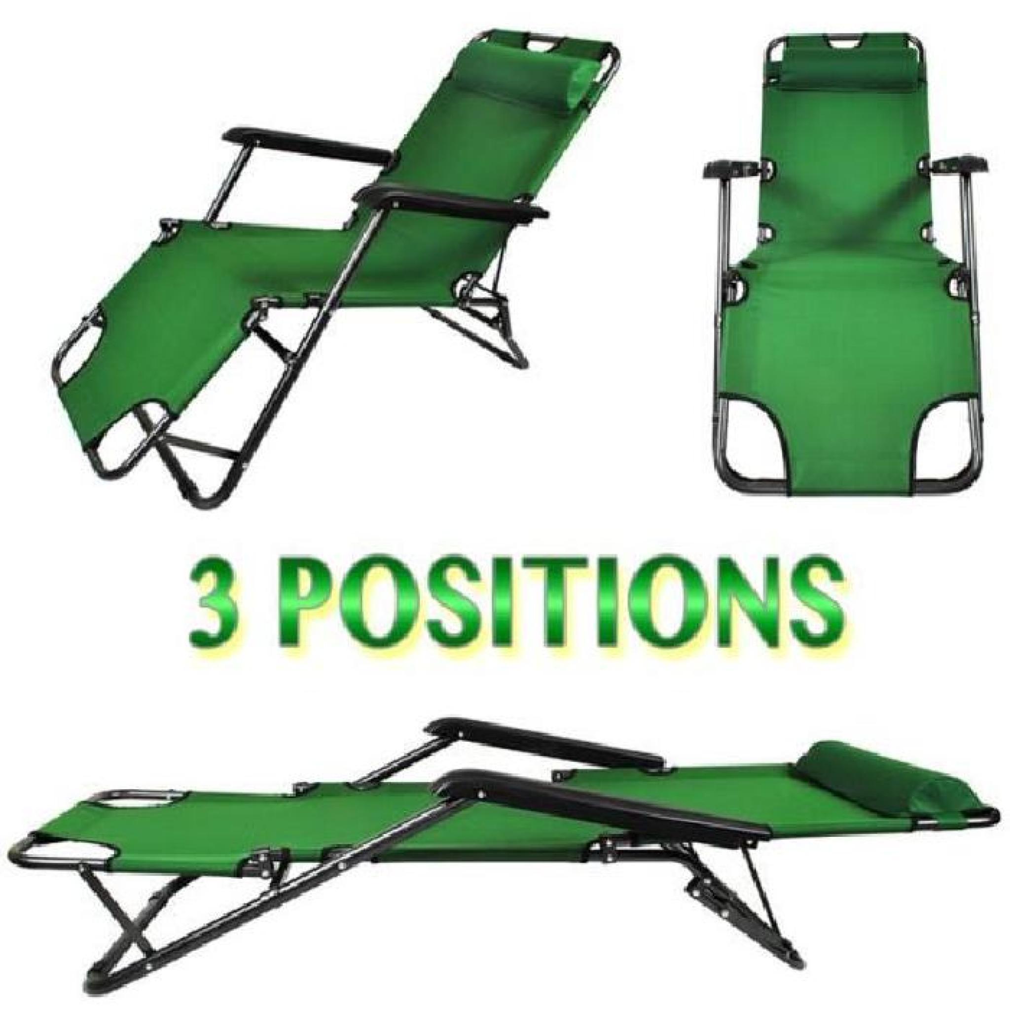 transat de jardin pas cher chaise longue transat 3 positions fauteuil pliable jardin