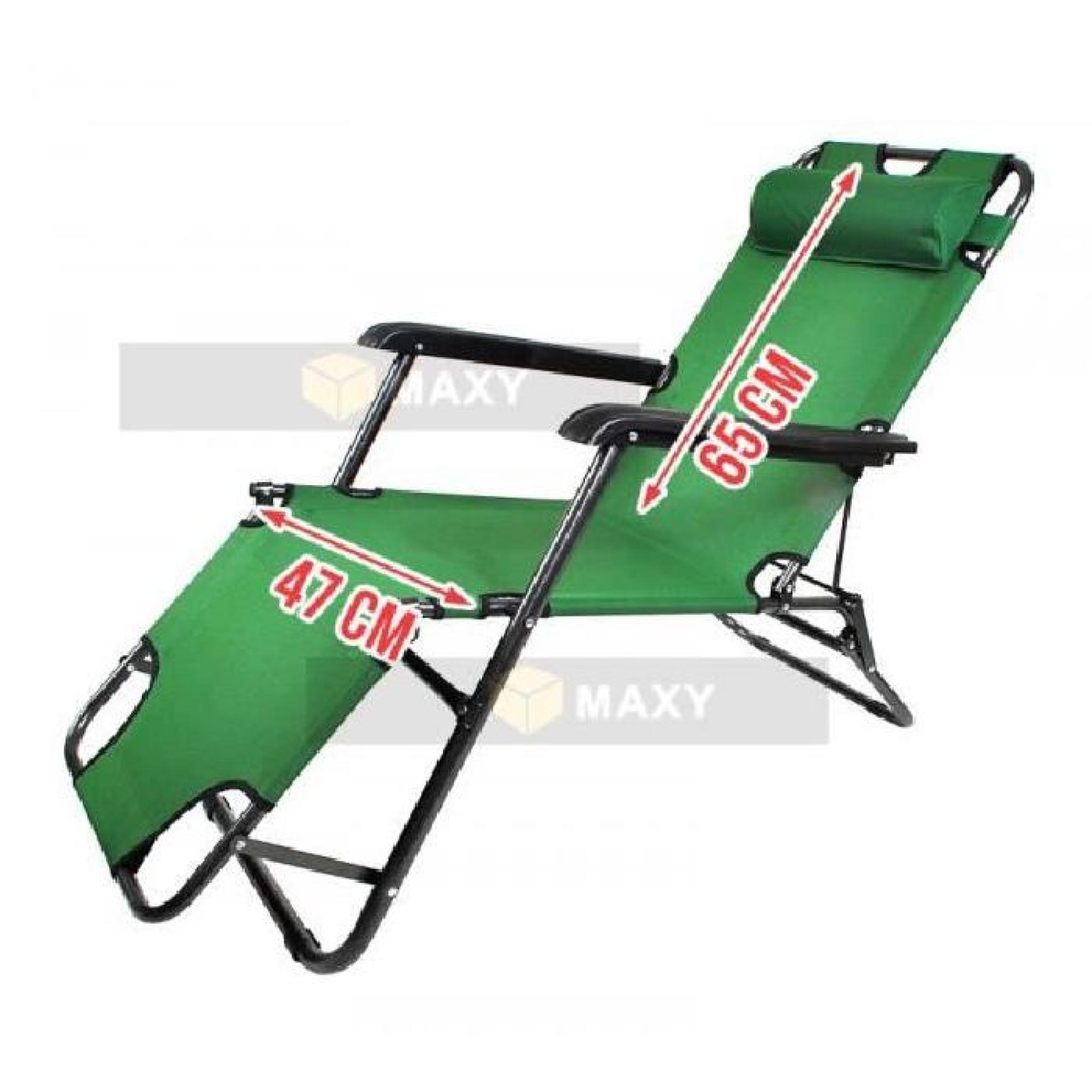 Chaise longue transat 3 positions fauteuil pliable jardin for Transat piscine pas cher