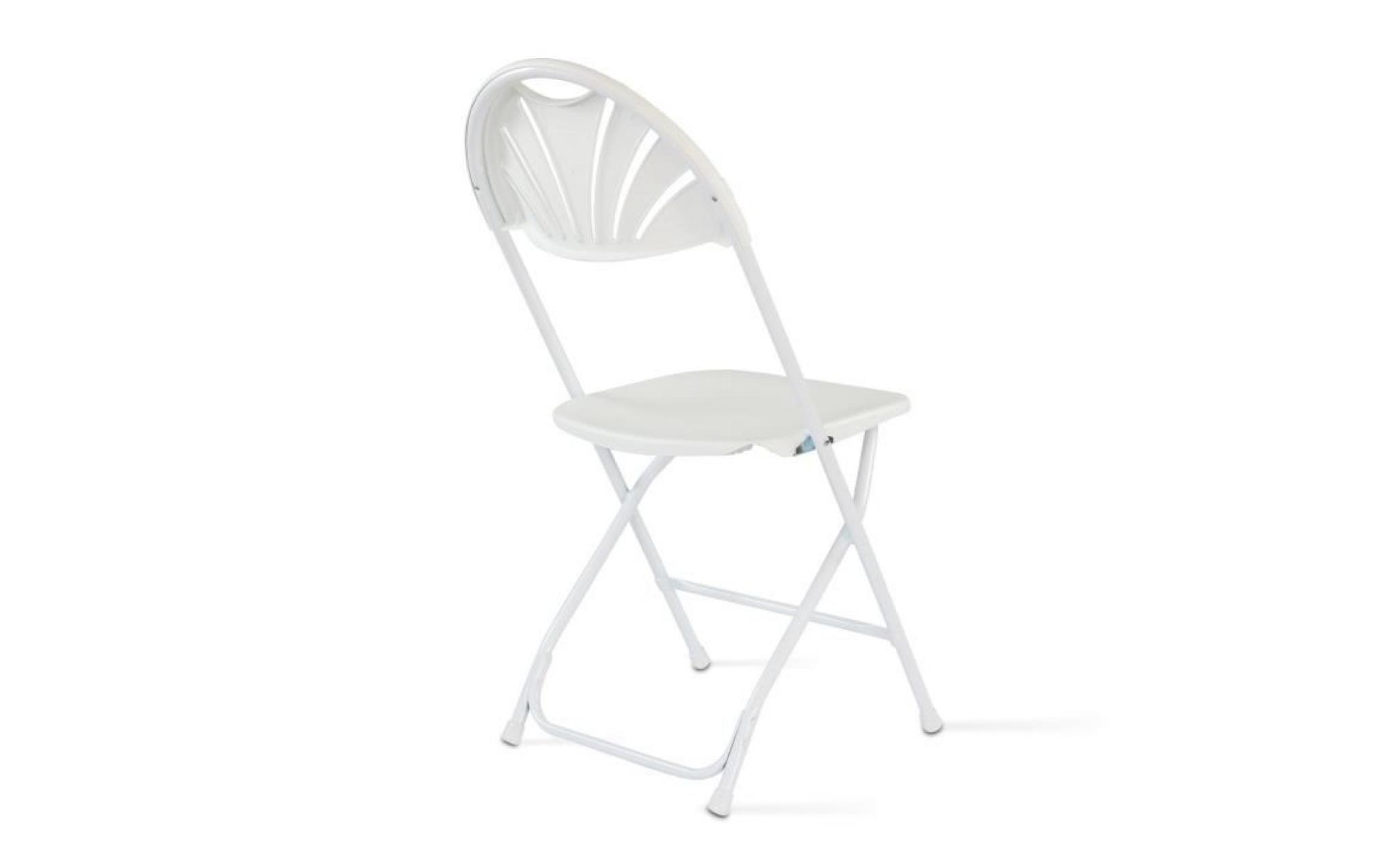 chaise pliante blanc - Achat/Vente fauteuil de jardin en ...