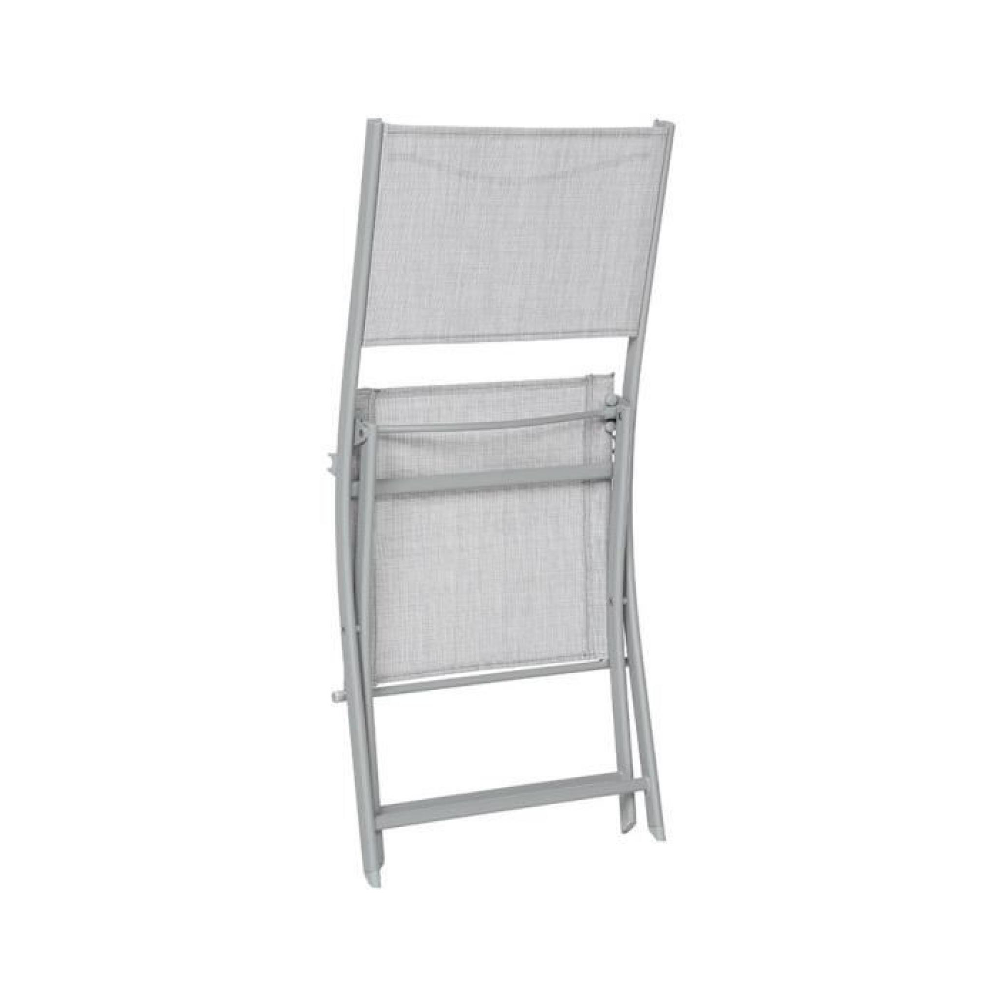 chaise pliante hesp ride modula galet chin silver mat achat vente chaise de jardin pliante. Black Bedroom Furniture Sets. Home Design Ideas