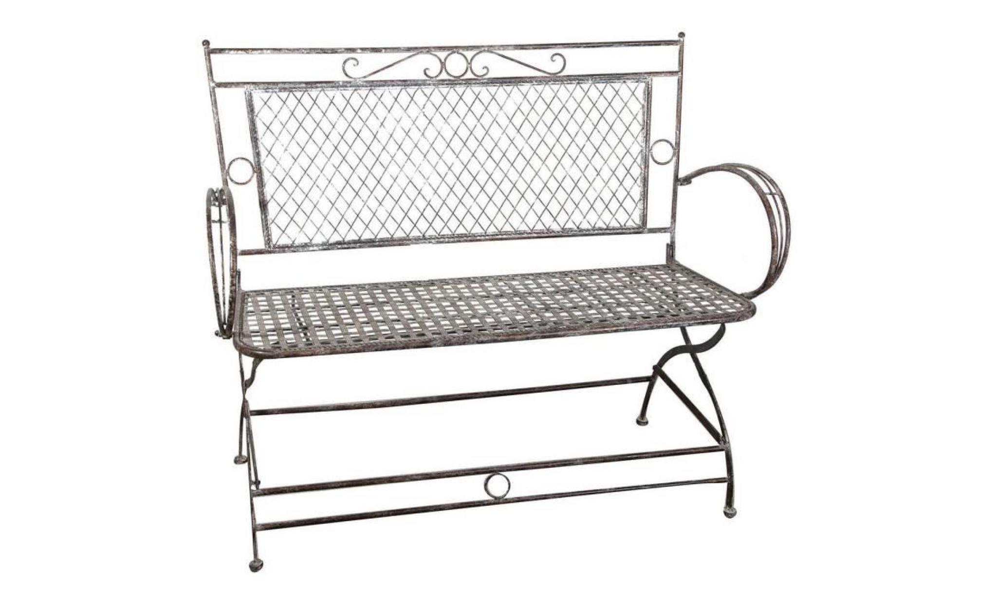chaises et fauteuils petit canapé banc forgé fer rouille ...
