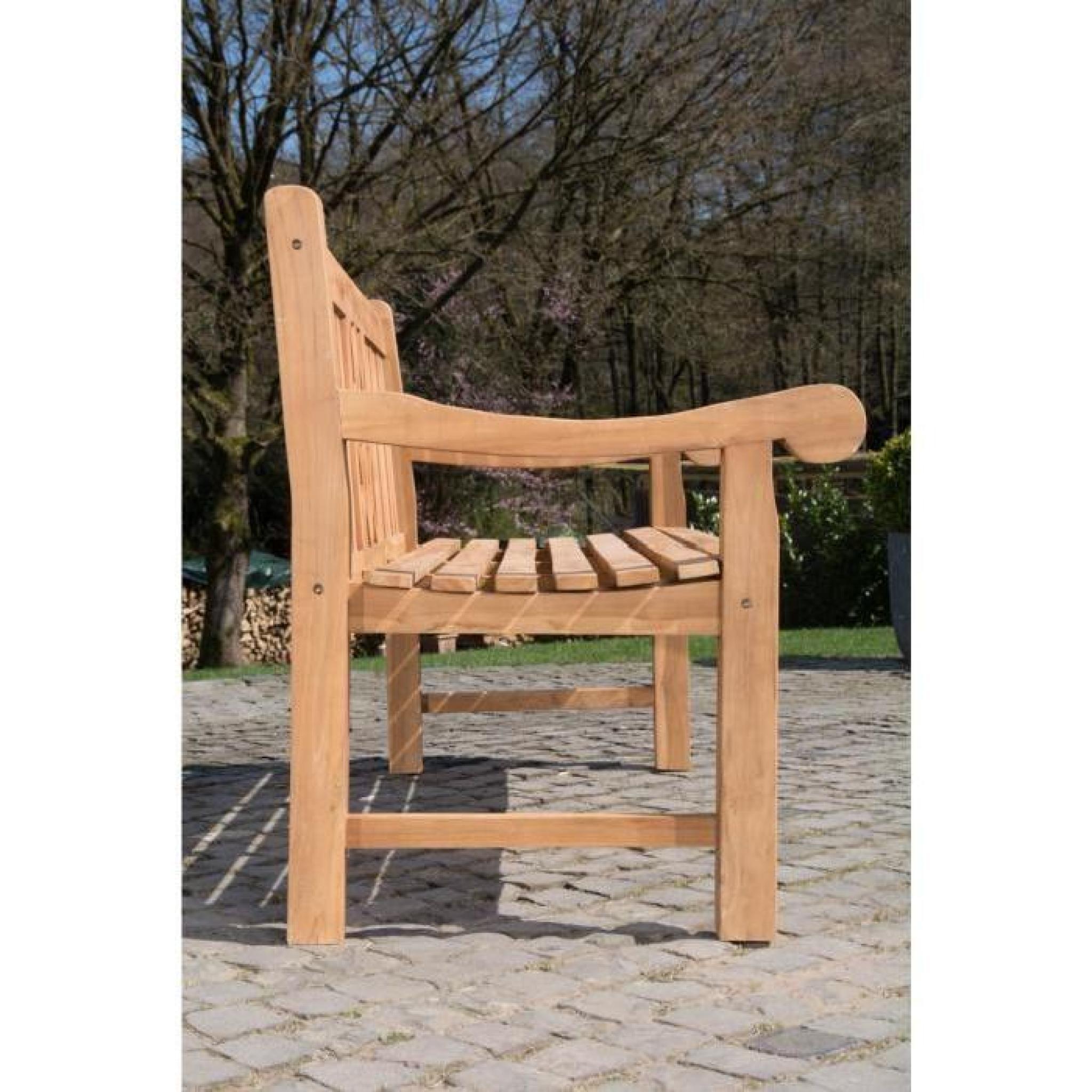 clp banc de jardin en bois de teck robuste florida v2. Black Bedroom Furniture Sets. Home Design Ideas