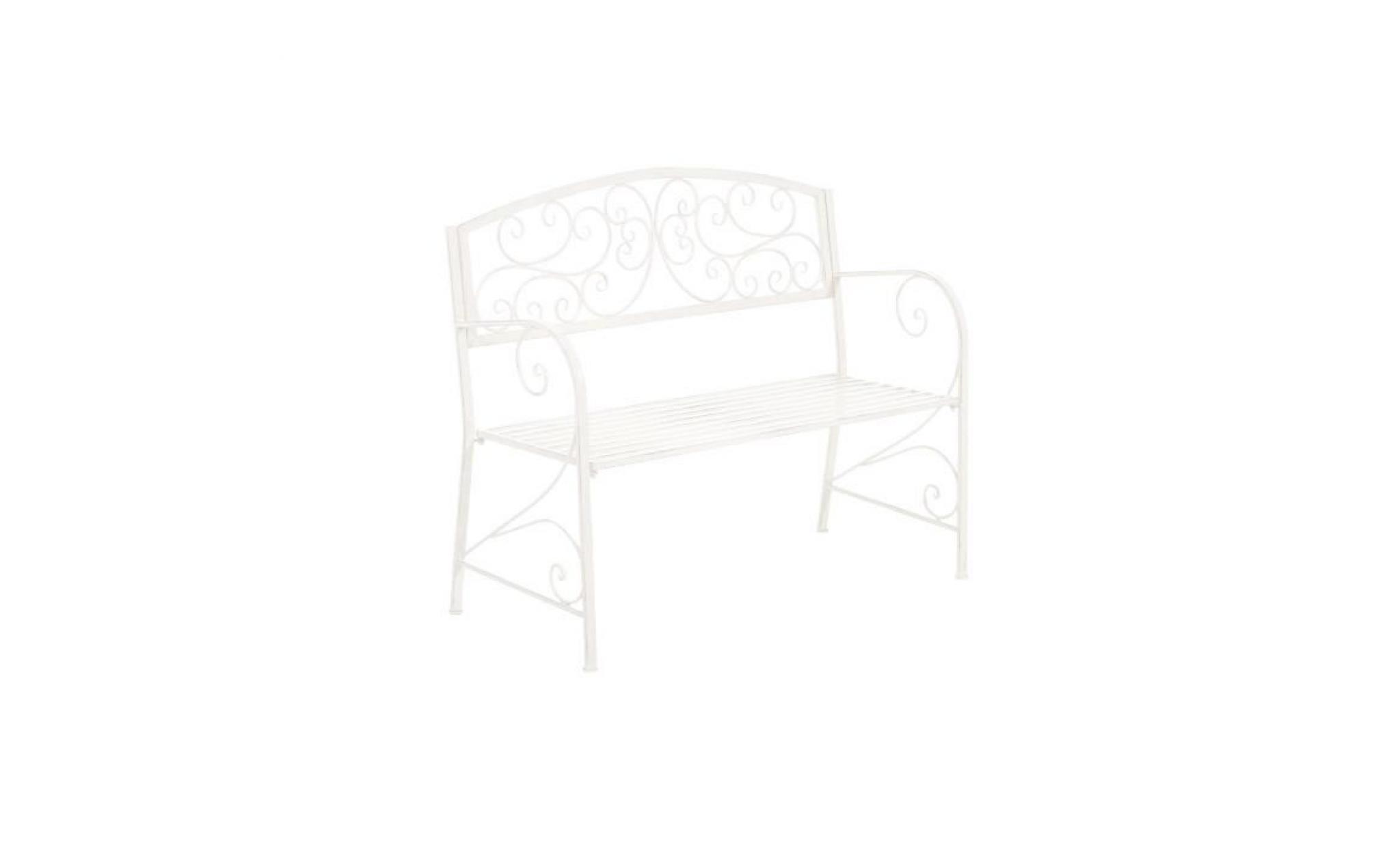 CLP Banc de jardin en fer forgé AZAD, style villa de vacances, recamière en métal, 108 x 51 cm, 6 couleurs au choix94 cm marron